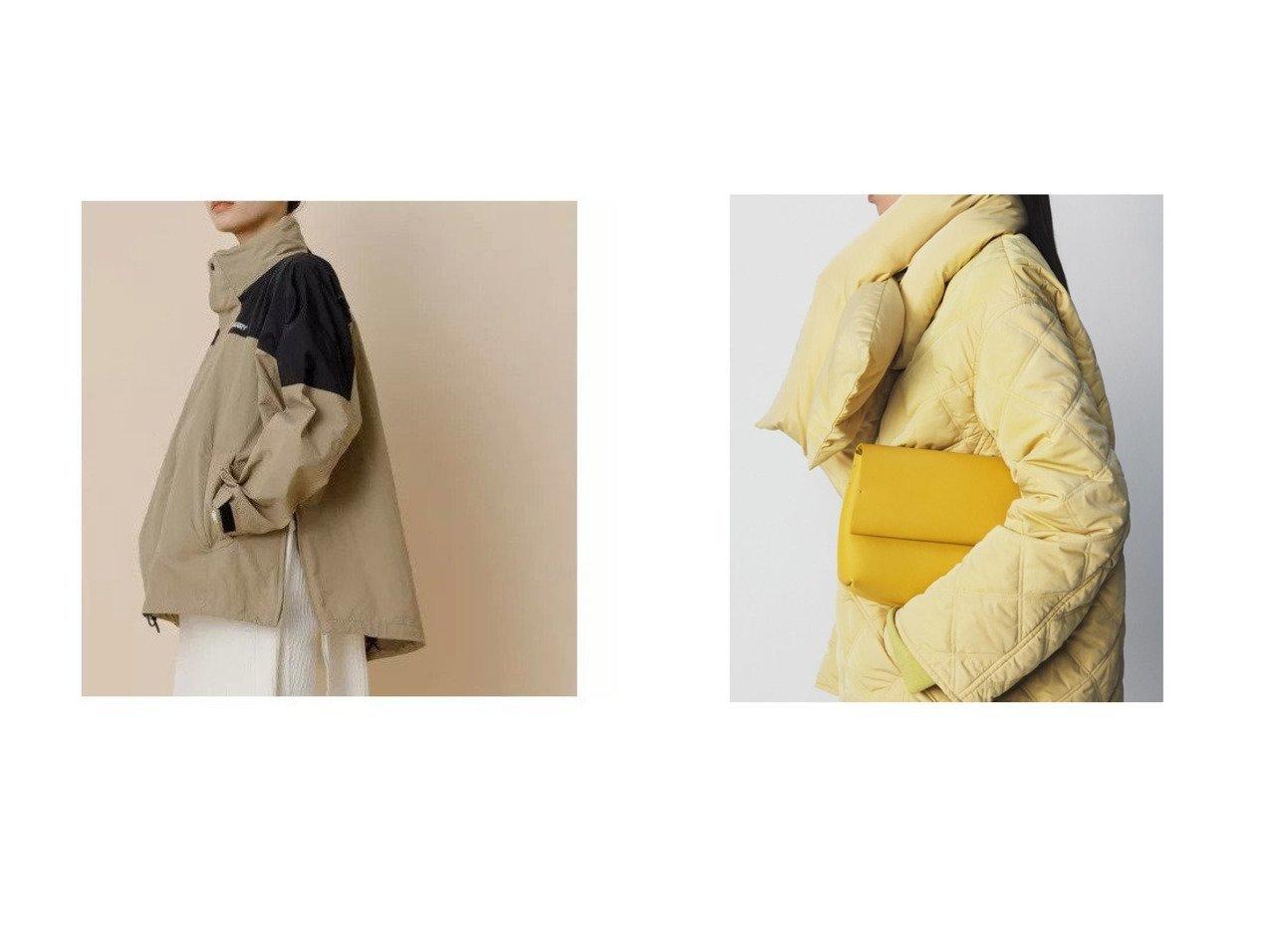 【Mila Owen/ミラオーウェン】のノーカラーAラインキルティングジャケット&【Adam et Rope/アダム エ ロペ】の【一部WEB限定】【GERRY】2WAYフードブルゾン アウターのおすすめ!人気、トレンド・レディースファッションの通販  おすすめで人気の流行・トレンド、ファッションの通販商品 メンズファッション・キッズファッション・インテリア・家具・レディースファッション・服の通販 founy(ファニー) https://founy.com/ ファッション Fashion レディースファッション WOMEN アウター Coat Outerwear ジャケット Jackets ブルゾン Blouson Jackets アウトドア アメリカン 今季 ジップ ジャケット スタンド スニーカー スリット トレンド 定番 ニューヨーク パーカー ブルゾン ポケット 別注 モノトーン ワッシャー キルティング 軽量 スマート タートルネック ダウン チェスターコート マフラー |ID:crp329100000010060