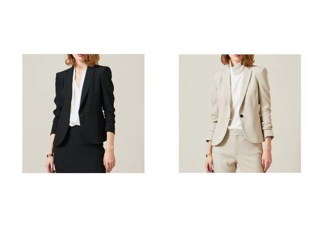 【BEIGE,/ベイジ,】のテーラードジャケット アウターのおすすめ!人気、トレンド・レディースファッションの通販  おすすめで人気の流行・トレンド、ファッションの通販商品 メンズファッション・キッズファッション・インテリア・家具・レディースファッション・服の通販 founy(ファニー) https://founy.com/ ファッション Fashion レディースファッション WOMEN アウター Coat Outerwear ジャケット Jackets テーラードジャケット Tailored Jackets エレガント コンパクト シェイプ ジャケット スタイリッシュ ストレッチ スマート セットアップ ツイル テーラード 定番 ラウンド |ID:crp329100000010062
