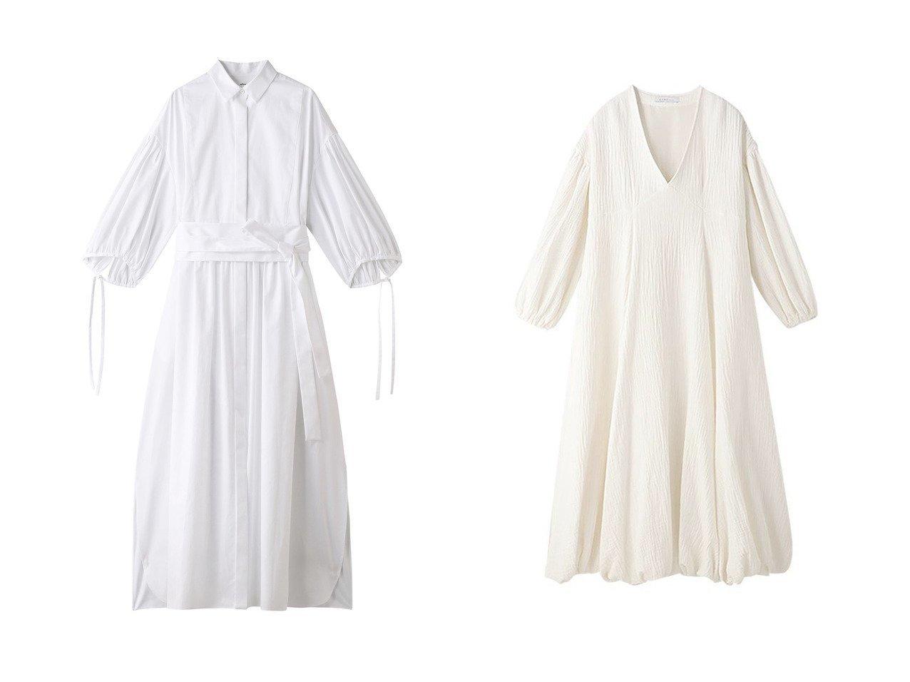 【ETRE TOKYO/エトレトウキョウ】のバルーンスリーブフレアワンピース&【ebure/エブール】のエッセンシャルコットン ウエストマークシャツワンピース ワンピース・ドレスのおすすめ!人気、トレンド・レディースファッションの通販  おすすめで人気の流行・トレンド、ファッションの通販商品 メンズファッション・キッズファッション・インテリア・家具・レディースファッション・服の通販 founy(ファニー) https://founy.com/ ファッション Fashion レディースファッション WOMEN ワンピース Dress シャツワンピース Shirt Dresses トレンド フォルム ロング 今季 バルーン フェミニン フレア |ID:crp329100000010073
