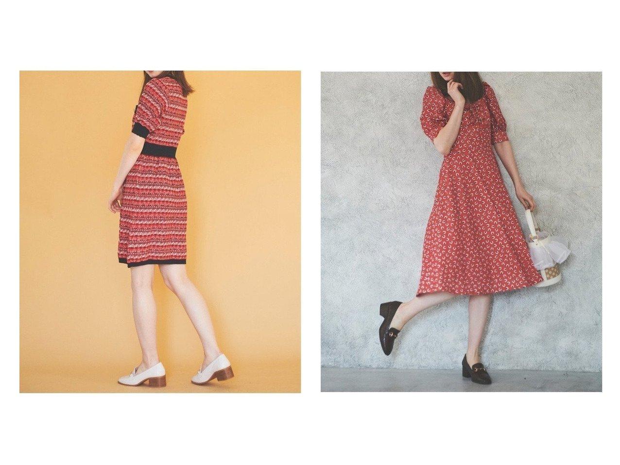 【31 Sons de mode/トランテアン ソン ドゥ モード】のツイーディーニットミニワンピ&ハート柄ミディ丈ワンピース ワンピース・ドレスのおすすめ!人気、トレンド・レディースファッションの通販  おすすめで人気の流行・トレンド、ファッションの通販商品 メンズファッション・キッズファッション・インテリア・家具・レディースファッション・服の通販 founy(ファニー) https://founy.com/ ファッション Fashion レディースファッション WOMEN ワンピース Dress ニットワンピース Knit Dresses 2021年 2021 2021 春夏 S/S SS Spring/Summer 2021 S/S 春夏 SS Spring/Summer スカラップ ツイード 半袖 |ID:crp329100000010088