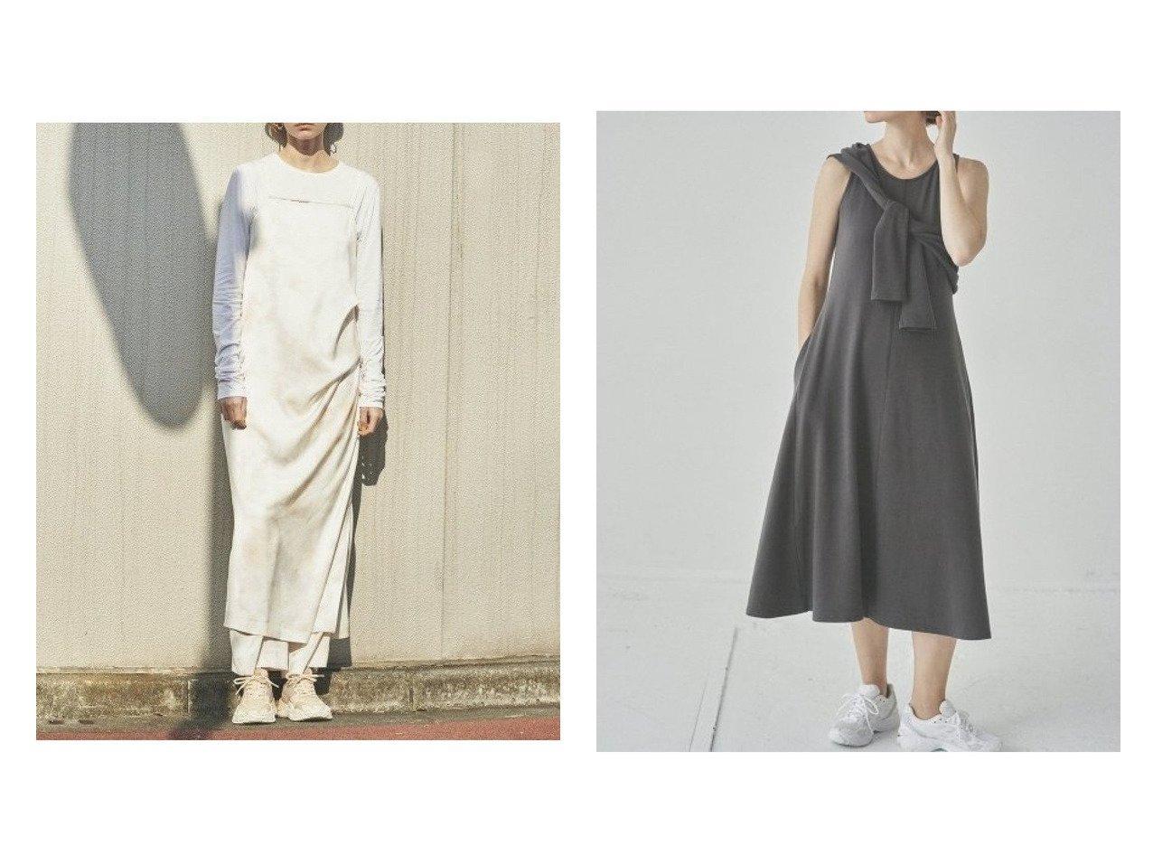 【emmi/エミ】の【emmi atelier】ドレープキャミワンピース&【emmi atelier】2ピースセットワンピース ワンピース・ドレスのおすすめ!人気、トレンド・レディースファッションの通販  おすすめで人気の流行・トレンド、ファッションの通販商品 メンズファッション・キッズファッション・インテリア・家具・レディースファッション・服の通販 founy(ファニー) https://founy.com/ ファッション Fashion レディースファッション WOMEN ワンピース Dress キャミワンピース No Sleeve Dresses マキシワンピース Maxi Dress NEW・新作・新着・新入荷 New Arrivals ウォッシャブル キャミワンピース シンプル スリット ドレープ フェミニン マキシ ロング 再入荷 Restock/Back in Stock/Re Arrival |ID:crp329100000010095