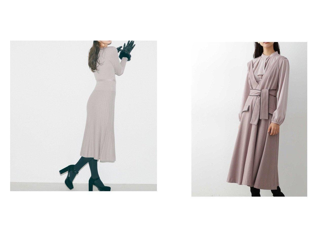 【JILL by JILLSTUART/ジルバイジルスチュアート】のスカシマーメイドニットワンピース&パイピングツイードワンピース ワンピース・ドレスのおすすめ!人気、トレンド・レディースファッションの通販  おすすめで人気の流行・トレンド、ファッションの通販商品 メンズファッション・キッズファッション・インテリア・家具・レディースファッション・服の通販 founy(ファニー) https://founy.com/ ファッション Fashion レディースファッション WOMEN ワンピース Dress ニットワンピース Knit Dresses シンプル フラット プリーツ マーメイド メタル リボン ワンポイント 透かし パイピング フェイクレザー フラップ  ID:crp329100000010131