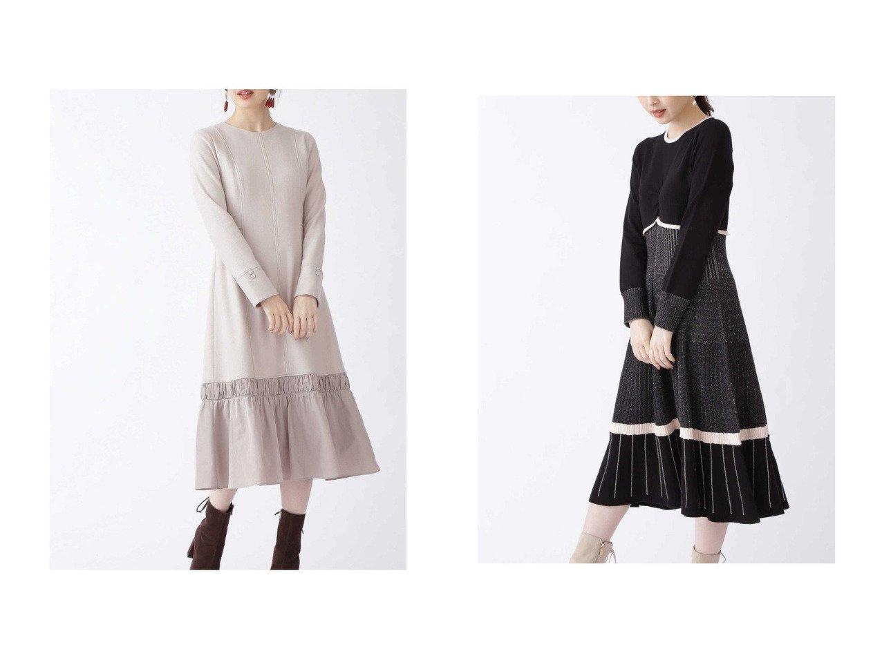 【JILLSTUART/ジルスチュアート】の《Endy ROBE》エライザニットワンピース&《Endy ROBE》オードリーワンピース ワンピース・ドレスのおすすめ!人気、トレンド・レディースファッションの通販  おすすめで人気の流行・トレンド、ファッションの通販商品 メンズファッション・キッズファッション・インテリア・家具・レディースファッション・服の通販 founy(ファニー) https://founy.com/ ファッション Fashion レディースファッション WOMEN ワンピース Dress ニットワンピース Knit Dresses アクセサリー コンビ シンプル ジャージ タフタ ノースリーブ フレア  ID:crp329100000010132