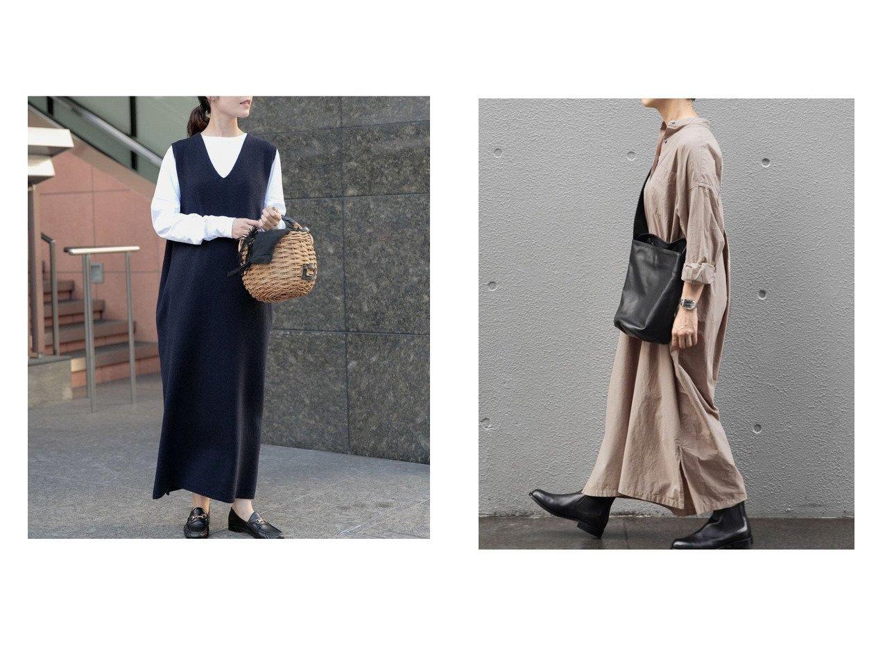 【kagure/かぐれ】のハミルトンウールニットワンピース&コットンシルクシャツワンピース ワンピース・ドレスのおすすめ!人気、トレンド・レディースファッションの通販  おすすめで人気の流行・トレンド、ファッションの通販商品 メンズファッション・キッズファッション・インテリア・家具・レディースファッション・服の通販 founy(ファニー) https://founy.com/ ファッション Fashion レディースファッション WOMEN ワンピース Dress ニットワンピース Knit Dresses シャツワンピース Shirt Dresses インナー カットソー スタンダード スリット タートル ロング シルク シンプル ワイド 人気 |ID:crp329100000010172