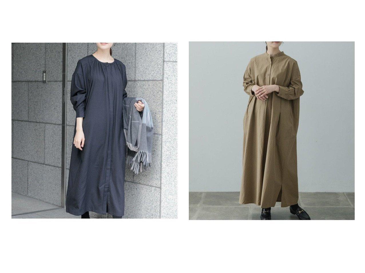 【kagure/かぐれ】のウールギャザーワンピース&コットンチェックシャツワンピース ワンピース・ドレスのおすすめ!人気、トレンド・レディースファッションの通販  おすすめで人気の流行・トレンド、ファッションの通販商品 メンズファッション・キッズファッション・インテリア・家具・レディースファッション・服の通販 founy(ファニー) https://founy.com/ ファッション Fashion レディースファッション WOMEN ワンピース Dress シャツワンピース Shirt Dresses オケージョン ギャザー ワイド 楽ちん カーディガン スタンド タートル チェック マキシ 人気 |ID:crp329100000010173