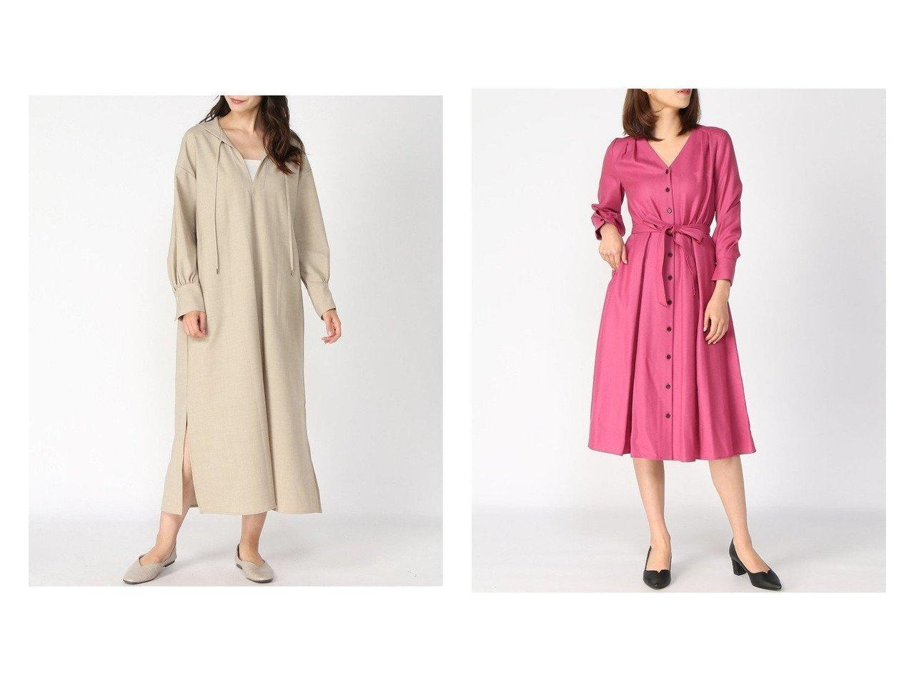 【ANAYI/アナイ】のSウールジョーゼットVネックワンピース&【NOBLE / Spick & Span/ノーブル / スピック&スパン】のセーラーカラーDetail ロングワンピース ワンピース・ドレスのおすすめ!人気、トレンド・レディースファッションの通販  おすすめで人気の流行・トレンド、ファッションの通販商品 メンズファッション・キッズファッション・インテリア・家具・レディースファッション・服の通販 founy(ファニー) https://founy.com/ ファッション Fashion レディースファッション WOMEN ワンピース Dress ドット ハイネック バランス ボーダー ロング 冬 Winter A/W 秋冬 AW Autumn/Winter / FW Fall-Winter 2020年 2020 2020-2021 秋冬 A/W AW Autumn/Winter / FW Fall-Winter 2020-2021 ショート ジョーゼット ストール ヨーク リボン 長袖 |ID:crp329100000010182