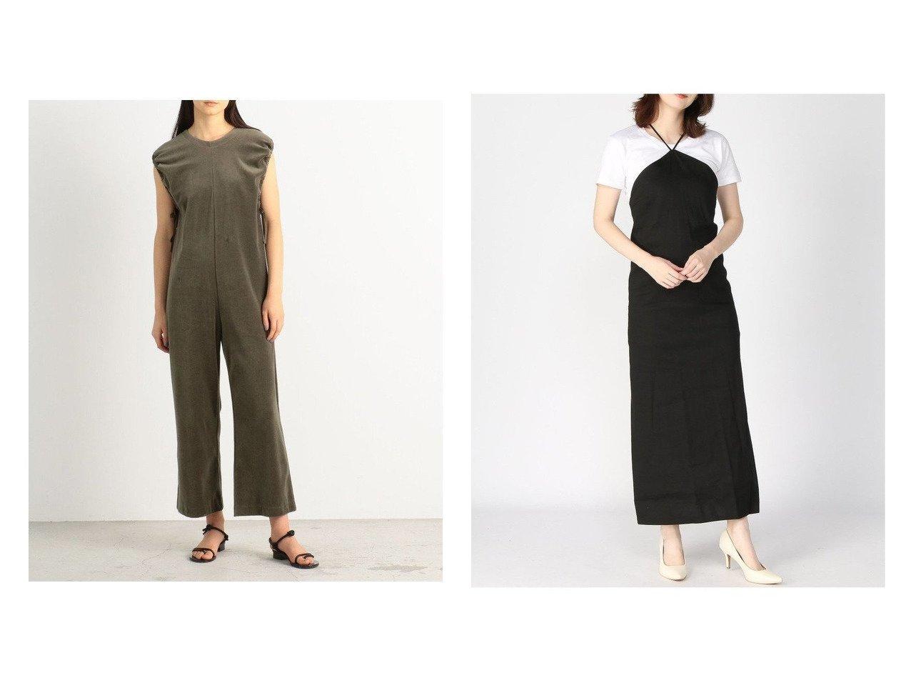 【edit.for LuLu/エディット フォー ルル】のストレッチ トライアングルネックドレス&【BACCA/バッカ】の【WEB先行予約】コットンベロアジャージー スリーブギャザーコンビネゾン ワンピース・ドレスのおすすめ!人気、トレンド・レディースファッションの通販  おすすめで人気の流行・トレンド、ファッションの通販商品 メンズファッション・キッズファッション・インテリア・家具・レディースファッション・服の通販 founy(ファニー) https://founy.com/ ファッション Fashion レディースファッション WOMEN ワンピース Dress ドレス Party Dresses キャミワンピース No Sleeve Dresses 2021年 2021 2021 春夏 S/S SS Spring/Summer 2021 S/S 春夏 SS Spring/Summer アクセサリー コンビネゾン ジャージー スリット フェミニン ベロア リラックス インナー ヴィンテージ カットソー カーディガン キャミワンピース シンプル ストレッチ トライアングル ドレス 定番 バランス ラップ A/W 秋冬 AW Autumn/Winter / FW Fall-Winter 2020年 2020 2020-2021 秋冬 A/W AW Autumn/Winter / FW Fall-Winter 2020-2021 |ID:crp329100000010187