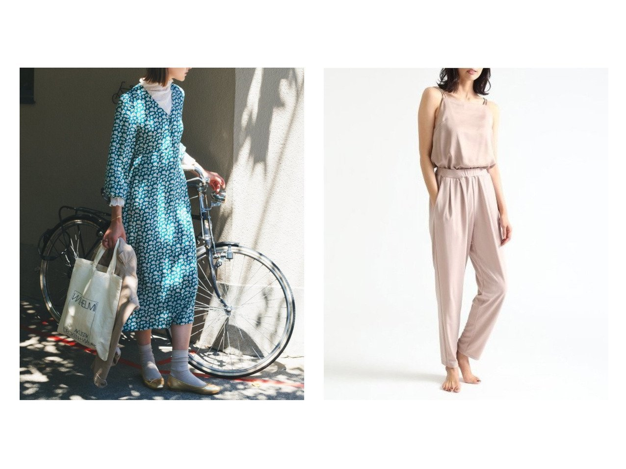 【FRAY I.D/フレイ アイディー】の異素材オールインワン&【ROPE' mademoiselle/ロペ マドモアゼル】のヴィンテージライクフラワーレディワンピース ワンピース・ドレスのおすすめ!人気、トレンド・レディースファッションの通販  おすすめで人気の流行・トレンド、ファッションの通販商品 メンズファッション・キッズファッション・インテリア・家具・レディースファッション・服の通販 founy(ファニー) https://founy.com/ ファッション Fashion レディースファッション WOMEN ワンピース Dress オールインワン ワンピース All In One Dress インナー スニーカー フラワー プリント ポケット リラックス キャミソール コンビ ストレッチ スポーティ ドッキング ヨガ 洗える |ID:crp329100000010191