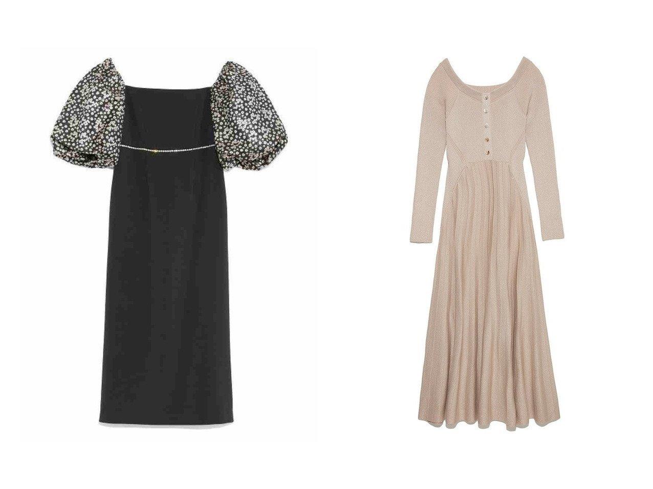 【Lily Brown/リリーブラウン】のラメニットワンピース&[L.B CANDY STOCK]ビジューチェーンワンピース ワンピース・ドレスのおすすめ!人気、トレンド・レディースファッションの通販  おすすめで人気の流行・トレンド、ファッションの通販商品 メンズファッション・キッズファッション・インテリア・家具・レディースファッション・服の通販 founy(ファニー) https://founy.com/ ファッション Fashion レディースファッション WOMEN ワンピース Dress マキシワンピース Maxi Dress ニットワンピース Knit Dresses オフショルダー シンプル スリーブ ドレス ビジュー マキシ ミニスカート ロング 定番 |ID:crp329100000010196
