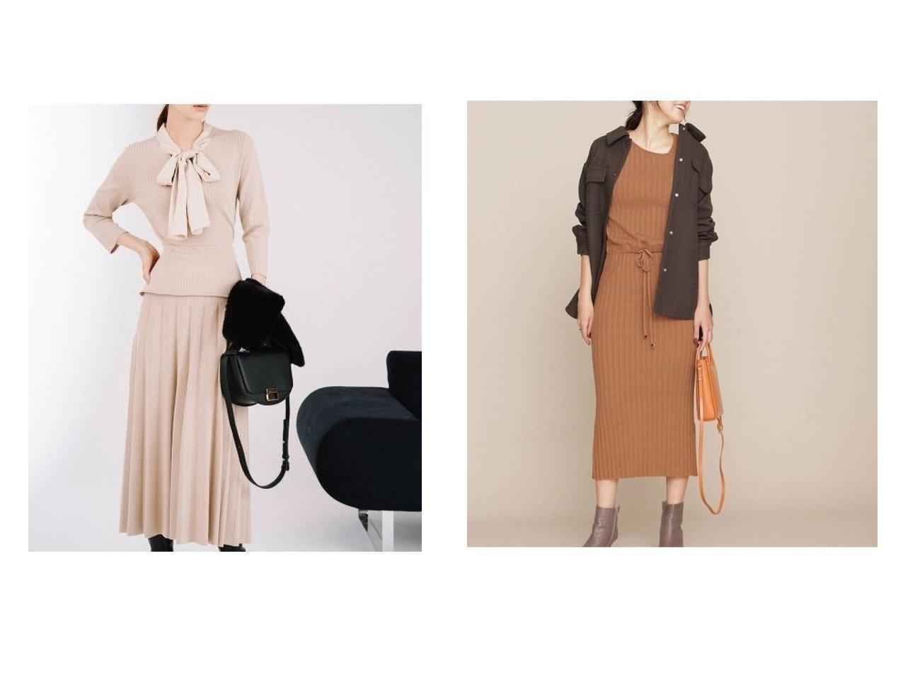 【nano universe/ナノ ユニバース】のエラスティックニットリブワンピース&【CELFORD/セルフォード】のボウタイシフォンニットワンピース ワンピース・ドレスのおすすめ!人気、トレンド・レディースファッションの通販  おすすめで人気の流行・トレンド、ファッションの通販商品 メンズファッション・キッズファッション・インテリア・家具・レディースファッション・服の通販 founy(ファニー) https://founy.com/ ファッション Fashion レディースファッション WOMEN ワンピース Dress ニットワンピース Knit Dresses エレガント シフォン ドット ウォッシャブル ストレッチ 人気 定番 |ID:crp329100000010207