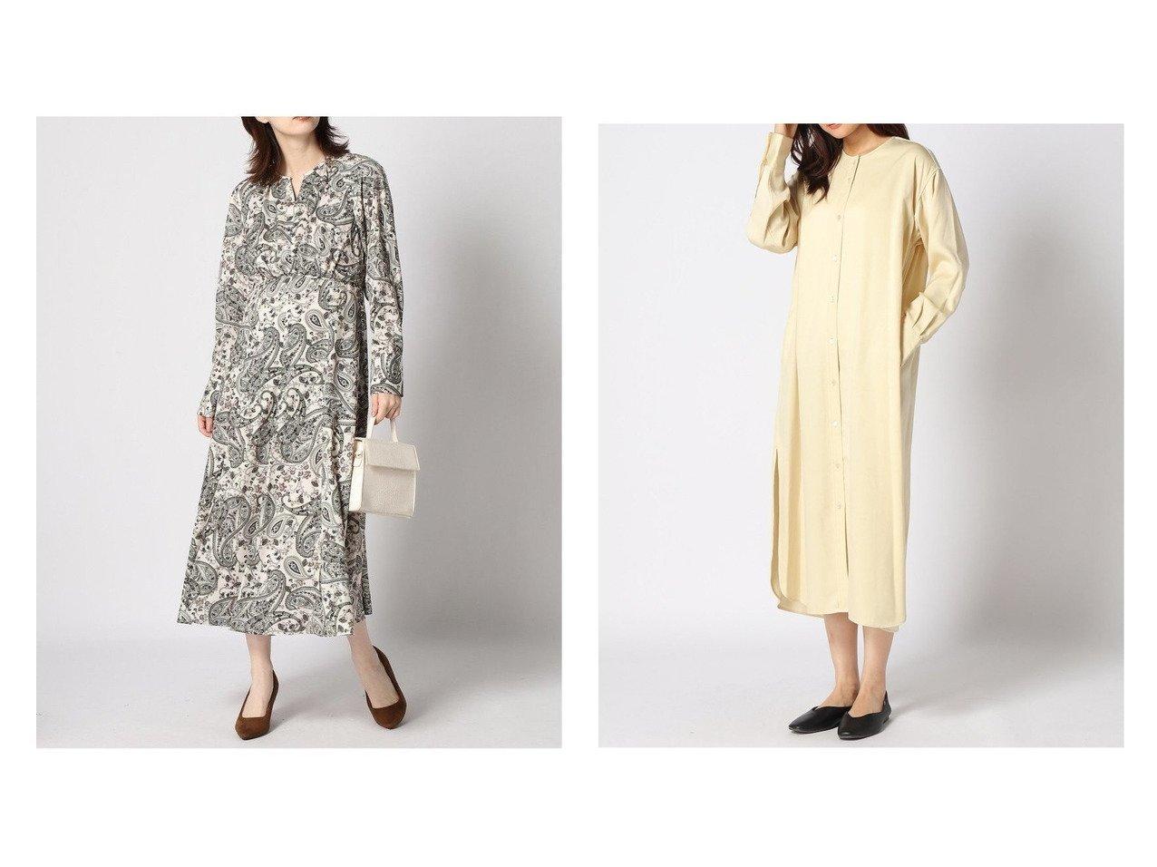 【IENA/イエナ】のキュプラサテンノーカラーシャツワンピース&【ANAYI/アナイ】のペイズリーPTハイウエストOP ワンピース・ドレスのおすすめ!人気、トレンド・レディースファッションの通販  おすすめで人気の流行・トレンド、ファッションの通販商品 メンズファッション・キッズファッション・インテリア・家具・レディースファッション・服の通販 founy(ファニー) https://founy.com/ ファッション Fashion レディースファッション WOMEN ワンピース Dress シャツワンピース Shirt Dresses エレガント カフス ギャザー スキッパー デコルテ フレア ペイズリー ロング 長袖 2020年 2020 2020-2021 秋冬 A/W AW Autumn/Winter / FW Fall-Winter 2020-2021 A/W 秋冬 AW Autumn/Winter / FW Fall-Winter キュプラ スウェット タートル |ID:crp329100000010208