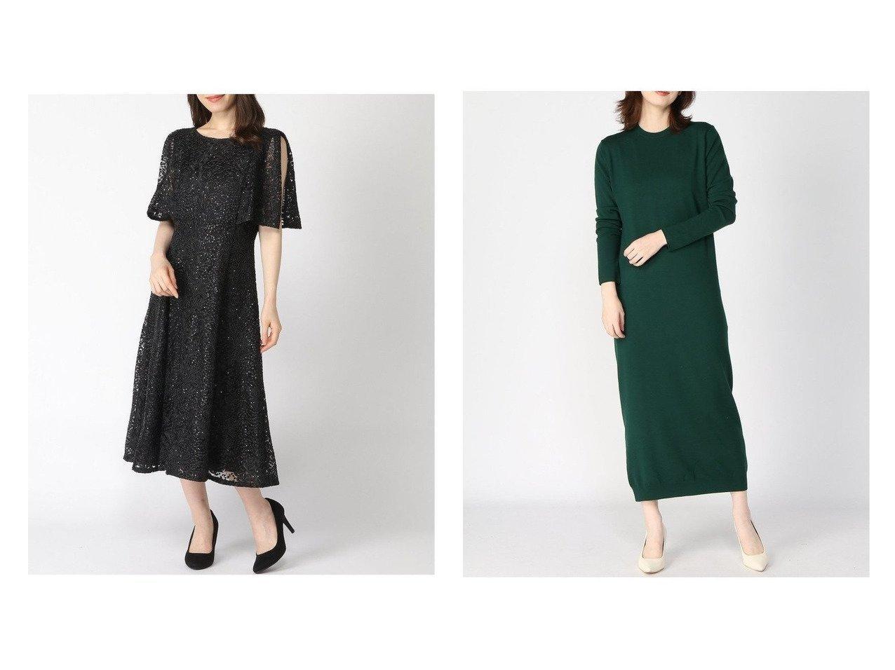 【edit.for LuLu/エディット フォー ルル】のスリム ニットワンピース&【CELFORD/セルフォード】のスパンコール刺繍ドレス ワンピース・ドレスのおすすめ!人気、トレンド・レディースファッションの通販  おすすめで人気の流行・トレンド、ファッションの通販商品 メンズファッション・キッズファッション・インテリア・家具・レディースファッション・服の通販 founy(ファニー) https://founy.com/ ファッション Fashion レディースファッション WOMEN ワンピース Dress ドレス Party Dresses ニットワンピース Knit Dresses スパンコール スリット スリーブ ドレス フレア レース 2020年 2020 2020-2021 秋冬 A/W AW Autumn/Winter / FW Fall-Winter 2020-2021 A/W 秋冬 AW Autumn/Winter / FW Fall-Winter スリム リラックス |ID:crp329100000010210
