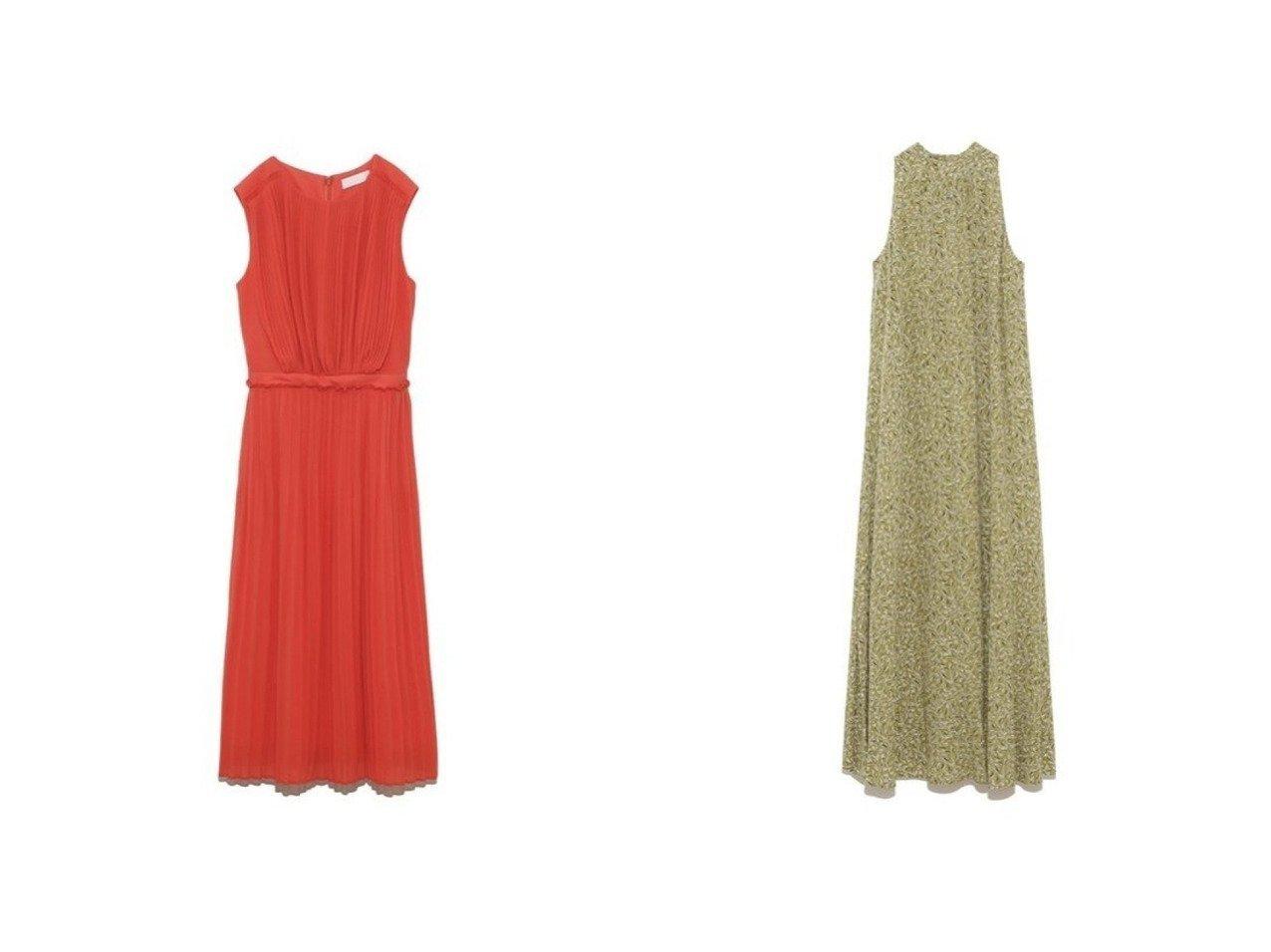 【CELFORD/セルフォード】のギャザープリーツワンピース&【FRAY I.D/フレイ アイディー】のアメスリプリントOP ワンピース・ドレスのおすすめ!人気、トレンド・レディースファッションの通販  おすすめで人気の流行・トレンド、ファッションの通販商品 メンズファッション・キッズファッション・インテリア・家具・レディースファッション・服の通販 founy(ファニー) https://founy.com/ ファッション Fashion レディースファッション WOMEN ワンピース Dress イエロー エアリー オレンジ ジョーゼット セットアップ ドレス ノースリーブ ビビッド フォーマル フレア プリーツ ボックス ランダム アメリカン ギャザー スリーブ ハイネック ペイズリー ボタニカル ロング  ID:crp329100000010216