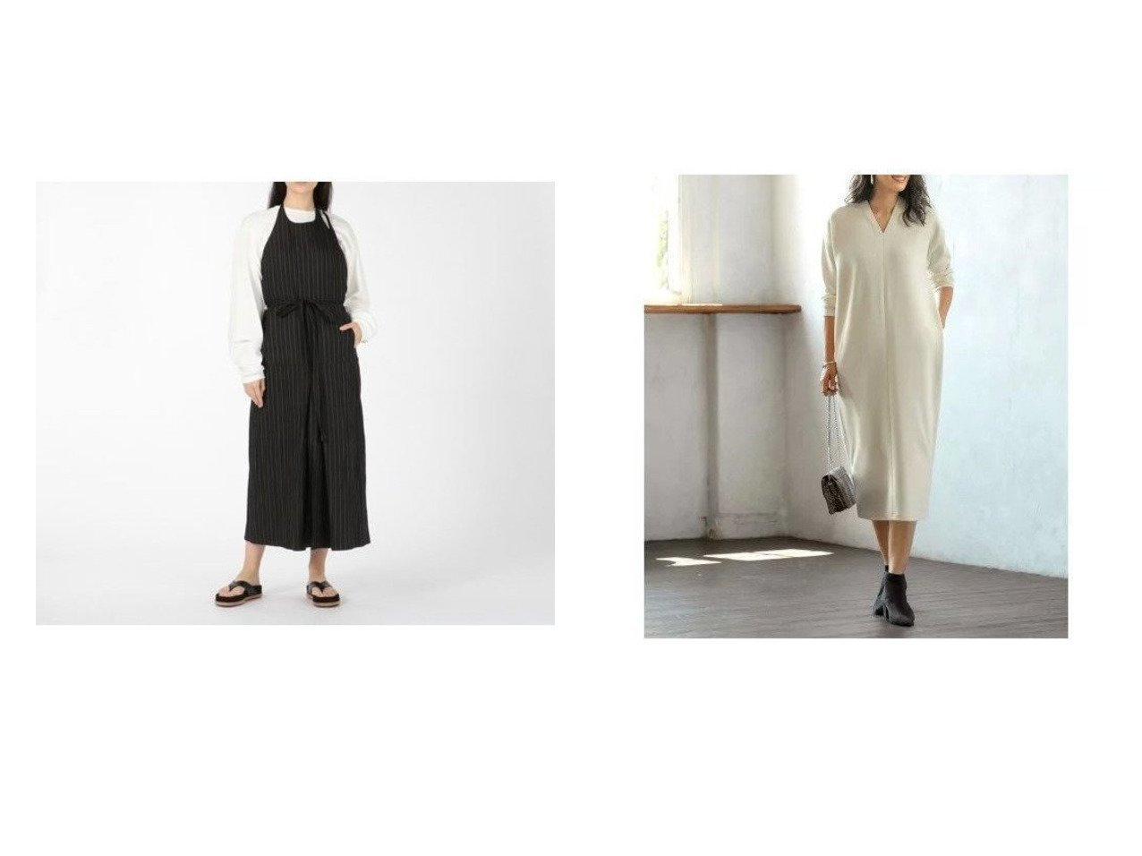 【STYLE DELI/スタイルデリ】のリラックスVネックワンピースD&【JANE SMITH/ジェーンスミス】のHALTERNECK APRON OP ワンピース・ドレスのおすすめ!人気、トレンド・レディースファッションの通販  おすすめで人気の流行・トレンド、ファッションの通販商品 メンズファッション・キッズファッション・インテリア・家具・レディースファッション・服の通販 founy(ファニー) https://founy.com/ ファッション Fashion レディースファッション WOMEN ワンピース Dress カットソー スリット タンク プリーツ ボックス コクーン シューズ ショルダー シンプル ジャージー スニーカー タイツ ドロップ 人気 長袖 フラット ベーシック ペチコート ポケット リラックス 冬 Winter A/W 秋冬 AW Autumn/Winter / FW Fall-Winter 2020年 2020 2020-2021 秋冬 A/W AW Autumn/Winter / FW Fall-Winter 2020-2021 |ID:crp329100000010235