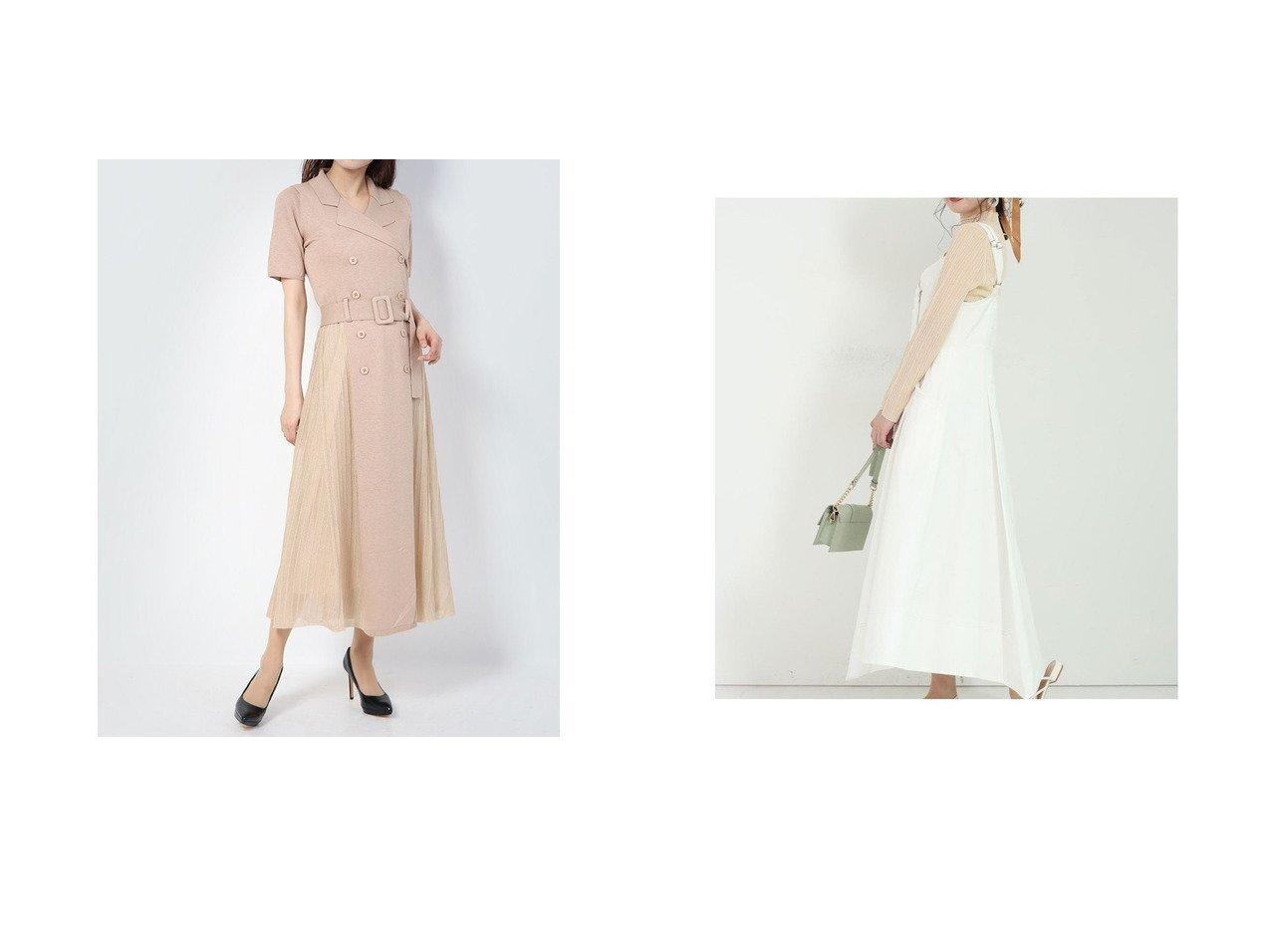 【Lily Brown/リリーブラウン】のシアー切替ニットワンピース&【Mystrada/マイストラーダ】のイレヘムデニムワンピース ワンピース・ドレスのおすすめ!人気、トレンド・レディースファッションの通販  おすすめで人気の流行・トレンド、ファッションの通販商品 メンズファッション・キッズファッション・インテリア・家具・レディースファッション・服の通販 founy(ファニー) https://founy.com/ ファッション Fashion レディースファッション WOMEN ワンピース Dress ニットワンピース Knit Dresses エレガント シアー スマート ダブル フロント プリーツ 切替 インナー カットオフ デニム フレア モダン ロング |ID:crp329100000010237