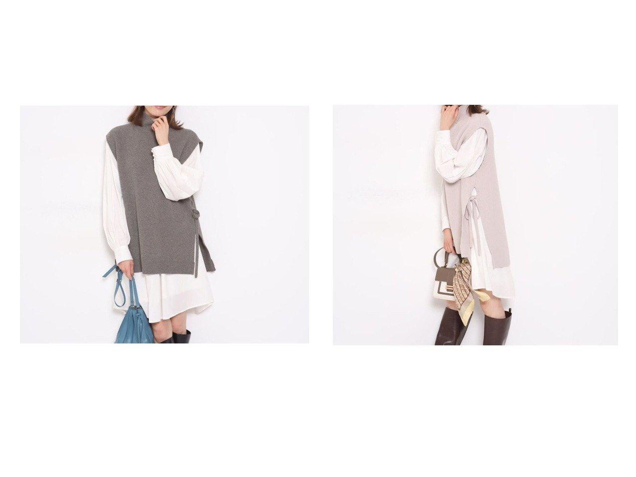 【Apuweiser-riche/アプワイザーリッシェ】のNewベストSETミニワンピース ワンピース・ドレスのおすすめ!人気、トレンド・レディースファッションの通販  おすすめで人気の流行・トレンド、ファッションの通販商品 メンズファッション・キッズファッション・インテリア・家具・レディースファッション・服の通販 founy(ファニー) https://founy.com/ ファッション Fashion レディースファッション WOMEN アウター Coat Outerwear ベスト リボン |ID:crp329100000010239