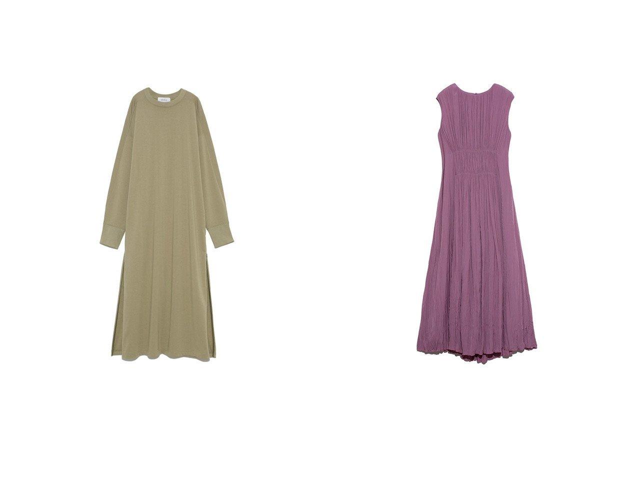 【Mila Owen/ミラオーウェン】のウエストシャーリングワッシャーワンピース&脇ファスナーミニ裏毛ロングTワンピース ワンピース・ドレスのおすすめ!人気、トレンド・レディースファッションの通販  おすすめで人気の流行・トレンド、ファッションの通販商品 メンズファッション・キッズファッション・インテリア・家具・レディースファッション・服の通販 founy(ファニー) https://founy.com/ ファッション Fashion レディースファッション WOMEN ワンピース Dress シンプル スウェット スキニー スタンダード スマート スリット スリーブ ロング シルク デニム レギンス ワッシャー 雑誌 |ID:crp329100000010240