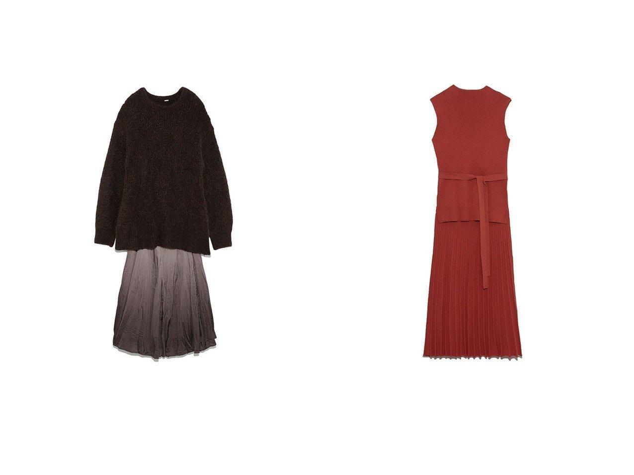 【Mila Owen/ミラオーウェン】のボトルネックリブニットセットアップ&マチフレアスカート畦ニットSETUP ワンピース・ドレスのおすすめ!人気、トレンド・レディースファッションの通販  おすすめで人気の流行・トレンド、ファッションの通販商品 メンズファッション・キッズファッション・インテリア・家具・レディースファッション・服の通販 founy(ファニー) https://founy.com/ ファッション Fashion レディースファッション WOMEN セットアップ Setup スカート Skirt スカート Skirt Aライン/フレアスカート Flared A-Line Skirts トップス Tops Tshirt ニット Knit Tops グラデーション スマート セットアップ フレア 畦 A/W 秋冬 AW Autumn/Winter / FW Fall-Winter エレガント プリーツ ボトルネック |ID:crp329100000010241