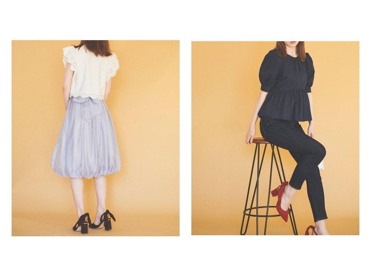 【31 Sons de mode/トランテアン ソン ドゥ モード】のカットワーク刺繍ブラウス&バックリボンブラウス トップス・カットソーのおすすめ!人気、トレンド・レディースファッションの通販  おすすめで人気の流行・トレンド、ファッションの通販商品 メンズファッション・キッズファッション・インテリア・家具・レディースファッション・服の通販 founy(ファニー) https://founy.com/ ファッション Fashion レディースファッション WOMEN トップス Tops Tshirt シャツ/ブラウス Shirts Blouses 2021年 2021 2021 春夏 S/S SS Spring/Summer 2021 S/S 春夏 SS Spring/Summer フリル リボン 半袖  ID:crp329100000010311