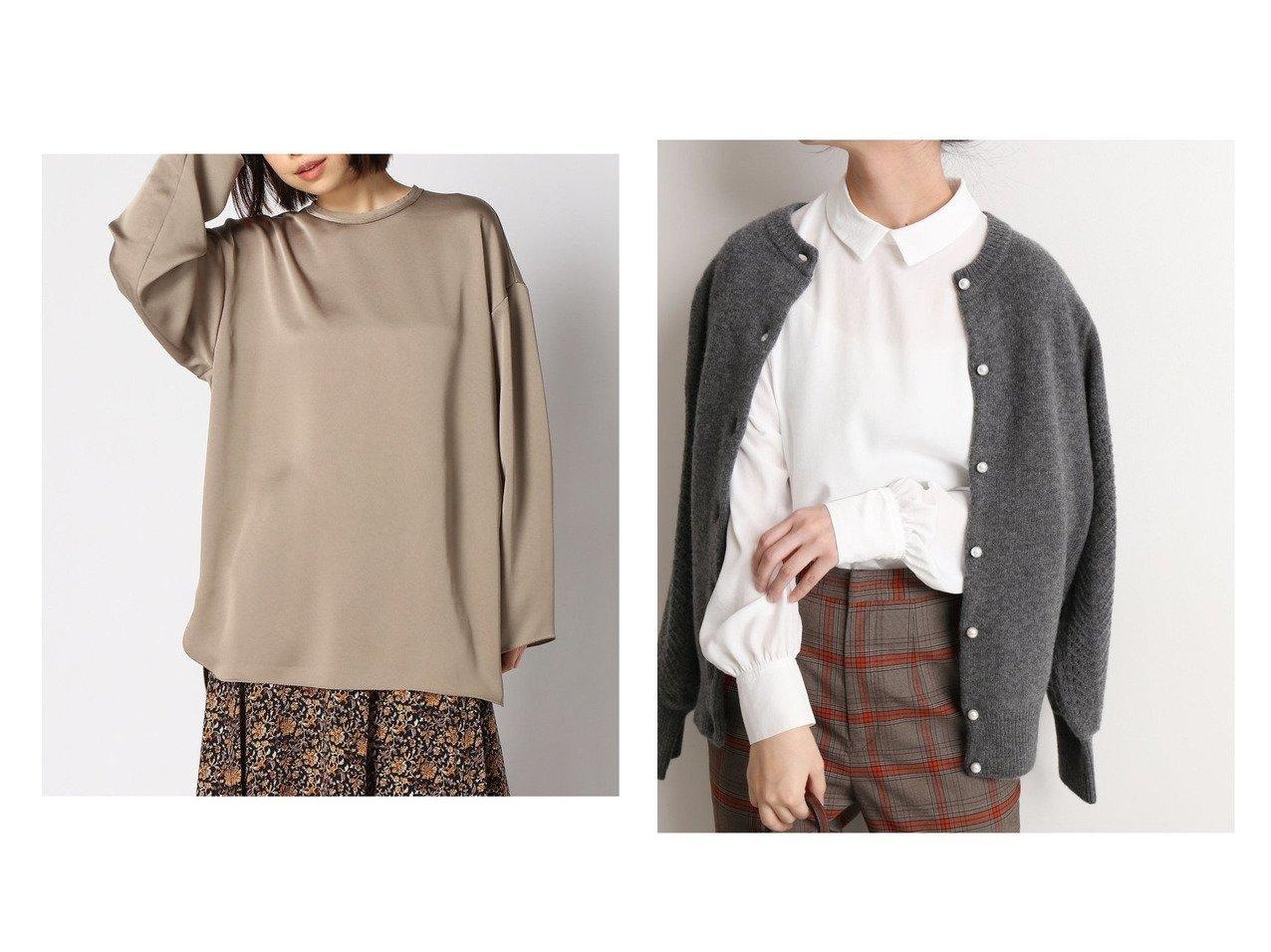 【FRAMeWORK/フレームワーク】のビンテージサテン ブラウス&【SLOBE IENA/スローブ イエナ】のエリツキサテンシャツBL Re トップス・カットソーのおすすめ!人気、トレンド・レディースファッションの通販  おすすめで人気の流行・トレンド、ファッションの通販商品 メンズファッション・キッズファッション・インテリア・家具・レディースファッション・服の通販 founy(ファニー) https://founy.com/ ファッション Fashion レディースファッション WOMEN トップス Tops Tshirt シャツ/ブラウス Shirts Blouses NEW・新作・新着・新入荷 New Arrivals 2020年 2020 2020-2021 秋冬 A/W AW Autumn/Winter / FW Fall-Winter 2020-2021 A/W 秋冬 AW Autumn/Winter / FW Fall-Winter インナー サテン スウェット ボトム ロング 長袖 |ID:crp329100000010348