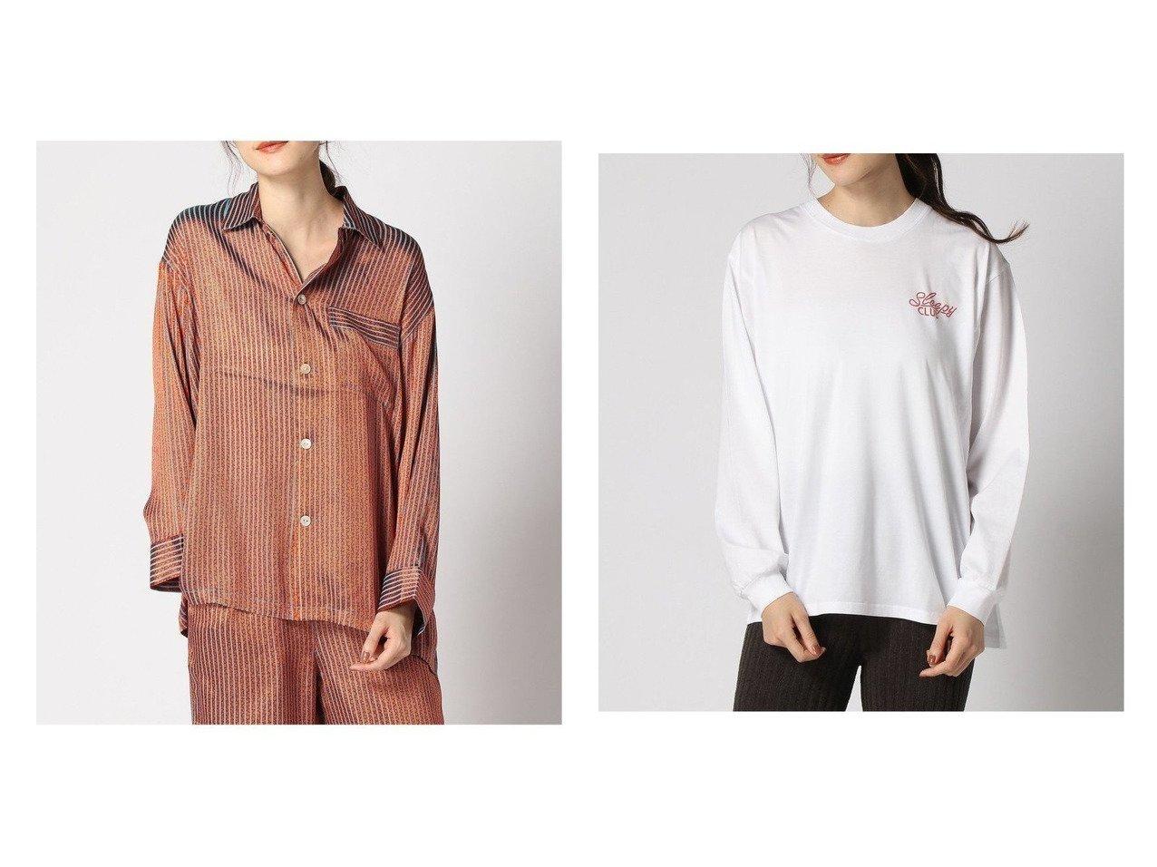 【JOURNAL STANDARD relume/ジャーナルスタンダード レリューム】のストライプ パジャマ SH&Organic-Cotton SLEEP Tee トップス・カットソーのおすすめ!人気、トレンド・レディースファッションの通販  おすすめで人気の流行・トレンド、ファッションの通販商品 メンズファッション・キッズファッション・インテリア・家具・レディースファッション・服の通販 founy(ファニー) https://founy.com/ ファッション Fashion レディースファッション WOMEN トップス Tops Tshirt シャツ/ブラウス Shirts Blouses ロング / Tシャツ T-Shirts カットソー Cut and Sewn 2020年 2020 2020-2021 秋冬 A/W AW Autumn/Winter / FW Fall-Winter 2020-2021 A/W 秋冬 AW Autumn/Winter / FW Fall-Winter インナー ストライプ セットアップ タートルネック パジャマ プリント ポケット インド カットソー シルケット ロング |ID:crp329100000010375