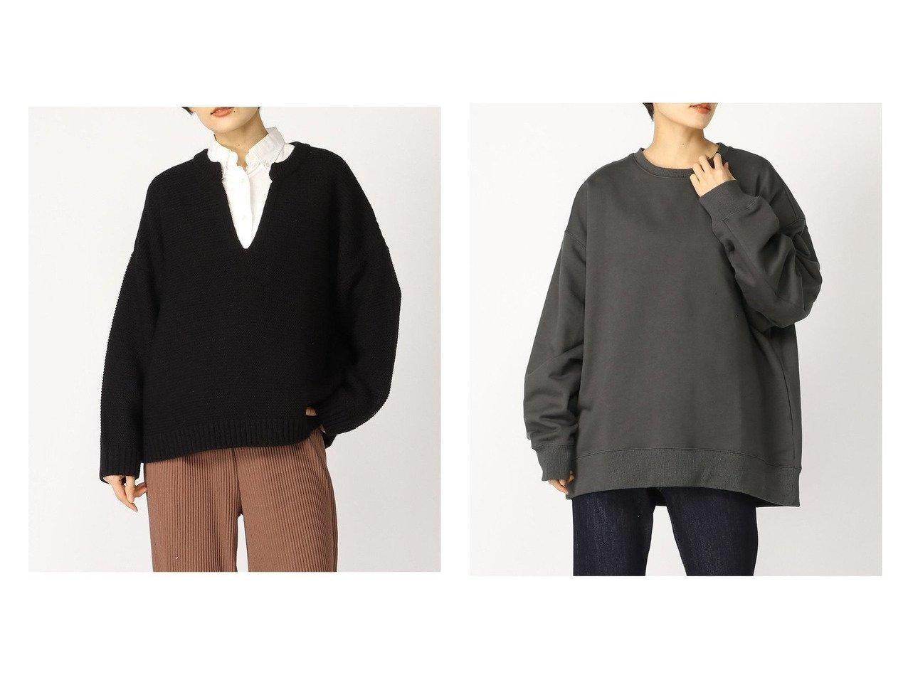 【LOWRYS FARM/ローリーズファーム】のウラケBIGクルーPOLS&【LEPSIM LOWRYS FARM/レプシィム ローリーズファーム】の5GスリットネックPO トップス・カットソーのおすすめ!人気、トレンド・レディースファッションの通販  おすすめで人気の流行・トレンド、ファッションの通販商品 メンズファッション・キッズファッション・インテリア・家具・レディースファッション・服の通販 founy(ファニー) https://founy.com/ ファッション Fashion レディースファッション WOMEN トップス Tops Tshirt ニット Knit Tops パーカ Sweats スウェット Sweat カットソー Cut and Sewn NEW・新作・新着・新入荷 New Arrivals スリット トレンド ベーシック 洗える 長袖 カットソー シンプル スウェット プリーツ 定番 Standard |ID:crp329100000010419