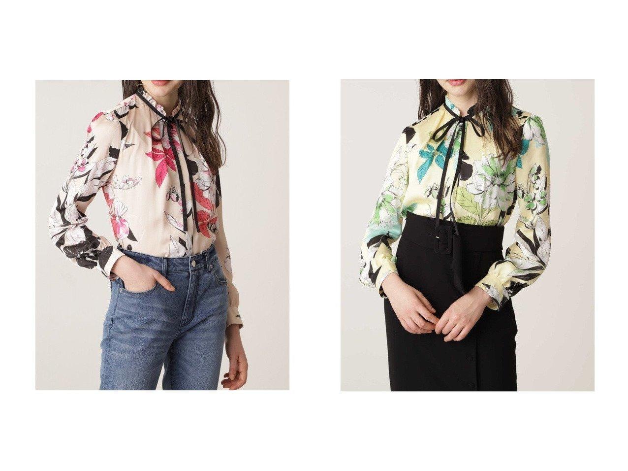 【Pinky&Dianne/ピンキーアンドダイアン】のカラーフラワーリボンブラウス トップス・カットソーのおすすめ!人気、トレンド・レディースファッションの通販  おすすめで人気の流行・トレンド、ファッションの通販商品 メンズファッション・キッズファッション・インテリア・家具・レディースファッション・服の通販 founy(ファニー) https://founy.com/ ファッション Fashion レディースファッション WOMEN トップス Tops Tshirt シャツ/ブラウス Shirts Blouses ギャザー デニム フェミニン フリル プリント リボン 春 Spring  ID:crp329100000010497