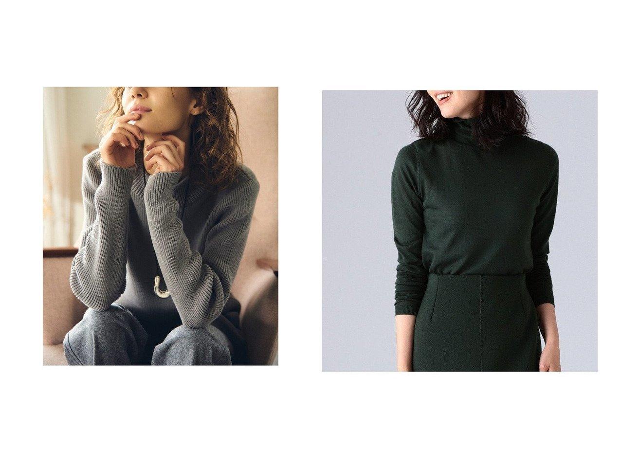 【Demi-Luxe BEAMS/デミルクス ビームス】のAK+ コットン モックネック ニット&AK+ ウール ハイネックニット トップス・カットソーのおすすめ!人気、トレンド・レディースファッションの通販  おすすめで人気の流行・トレンド、ファッションの通販商品 メンズファッション・キッズファッション・インテリア・家具・レディースファッション・服の通販 founy(ファニー) https://founy.com/ ファッション Fashion レディースファッション WOMEN トップス Tops Tshirt ニット Knit Tops モックネック 長袖 インナー シンプル スリーブ セットアップ ハイネック バランス パターン フィット ベーシック メンズ |ID:crp329100000010518