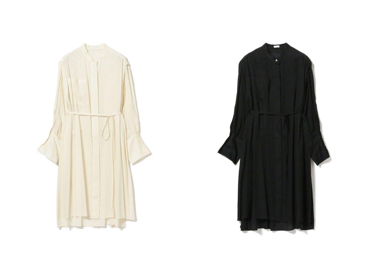【Demi-Luxe BEAMS/デミルクス ビームス】の2WAY ロングシャツ トップス・カットソーのおすすめ!人気、トレンド・レディースファッションの通販  おすすめで人気の流行・トレンド、ファッションの通販商品 メンズファッション・キッズファッション・インテリア・家具・レディースファッション・服の通販 founy(ファニー) https://founy.com/ ファッション Fashion レディースファッション WOMEN トップス Tops Tshirt シャツ/ブラウス Shirts Blouses シルク ストライプ ドレープ ノースリーブ ロング |ID:crp329100000010520