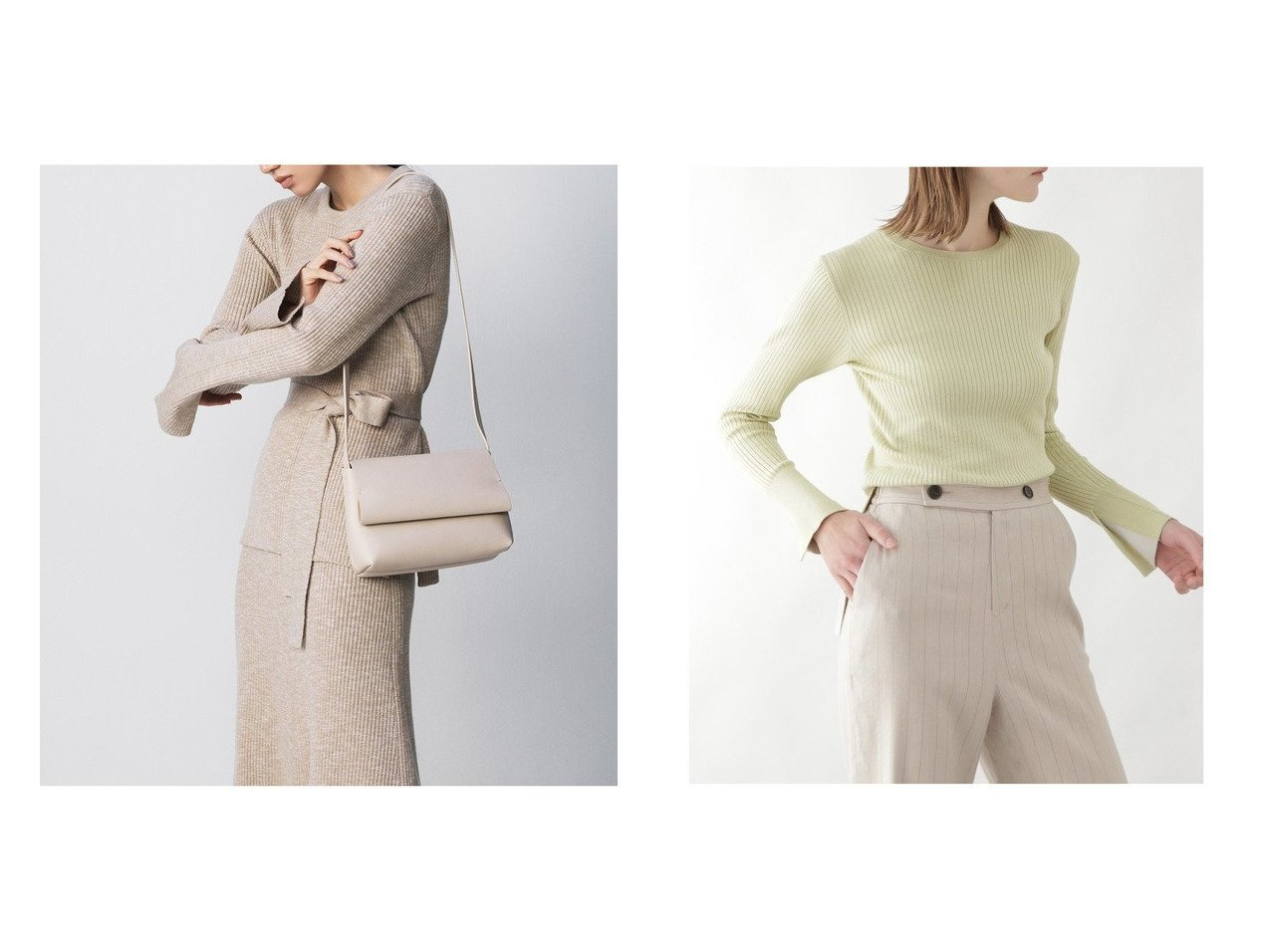 【BOSCH/ボッシュ】のシルクストレッチリブニット&【Mila Owen/ミラオーウェン】のリボン付クルーネックリブニット トップス・カットソーのおすすめ!人気、トレンド・レディースファッションの通販  おすすめで人気の流行・トレンド、ファッションの通販商品 メンズファッション・キッズファッション・インテリア・家具・レディースファッション・服の通販 founy(ファニー) https://founy.com/ ファッション Fashion レディースファッション WOMEN トップス Tops Tshirt ニット Knit Tops リブニット リボン 再入荷 Restock/Back in Stock/Re Arrival |ID:crp329100000010556
