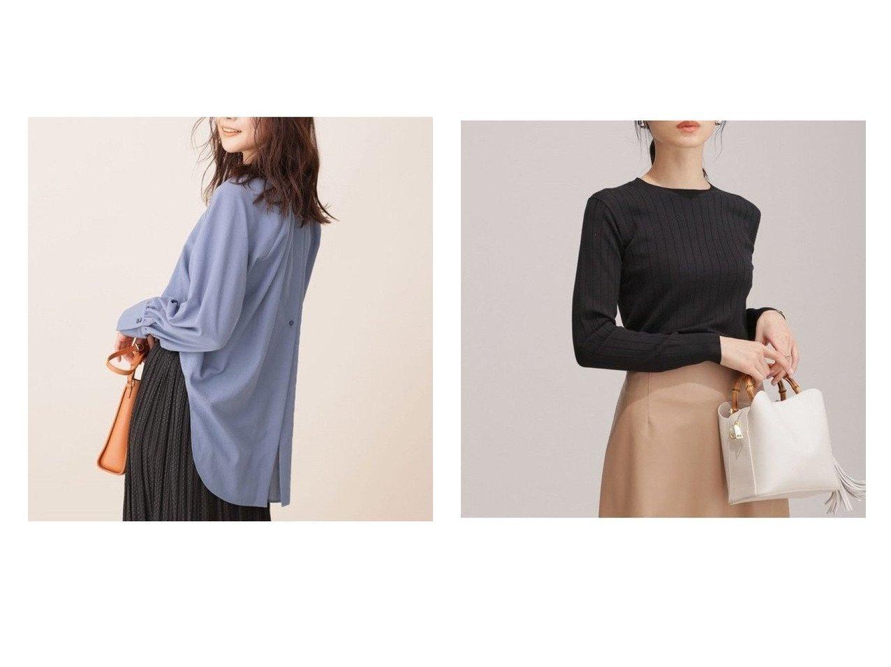 【nano universe/ナノ ユニバース】の速乾バックオープンギャザーシャツ&WEB限定/ウォッシャブルリブニット 長袖 トップス・カットソーのおすすめ!人気、トレンド・レディースファッションの通販  おすすめで人気の流行・トレンド、ファッションの通販商品 メンズファッション・キッズファッション・インテリア・家具・レディースファッション・服の通販 founy(ファニー) https://founy.com/ ファッション Fashion レディースファッション WOMEN トップス Tops Tshirt シャツ/ブラウス Shirts Blouses バッグ Bag ニット Knit Tops インナー カフス ギャザー クラシカル 抗菌 スタンド セットアップ デニム トレンド フロント NEW・新作・新着・新入荷 New Arrivals |ID:crp329100000010564