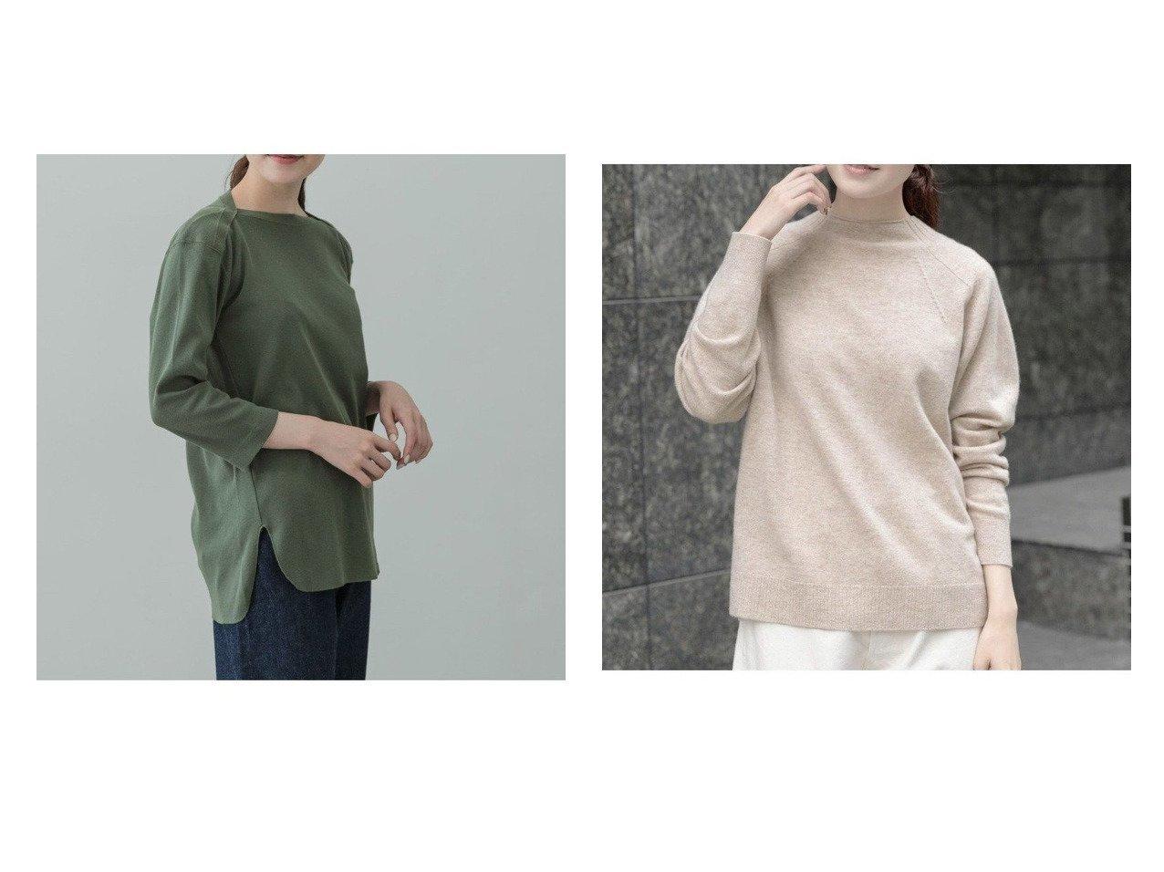 【kagure/かぐれ】のunfil vintage cotton boatneck T-Shirts&ウールモックネックプルオーバーニット トップス・カットソーのおすすめ!人気、トレンド・レディースファッションの通販  おすすめで人気の流行・トレンド、ファッションの通販商品 メンズファッション・キッズファッション・インテリア・家具・レディースファッション・服の通販 founy(ファニー) https://founy.com/ ファッション Fashion レディースファッション WOMEN トップス Tops Tshirt シャツ/ブラウス Shirts Blouses ロング / Tシャツ T-Shirts カットソー Cut and Sewn ニット Knit Tops プルオーバー Pullover インド カットソー シンプル スタンダード ラウンド フィット ベーシック リラックス |ID:crp329100000010646