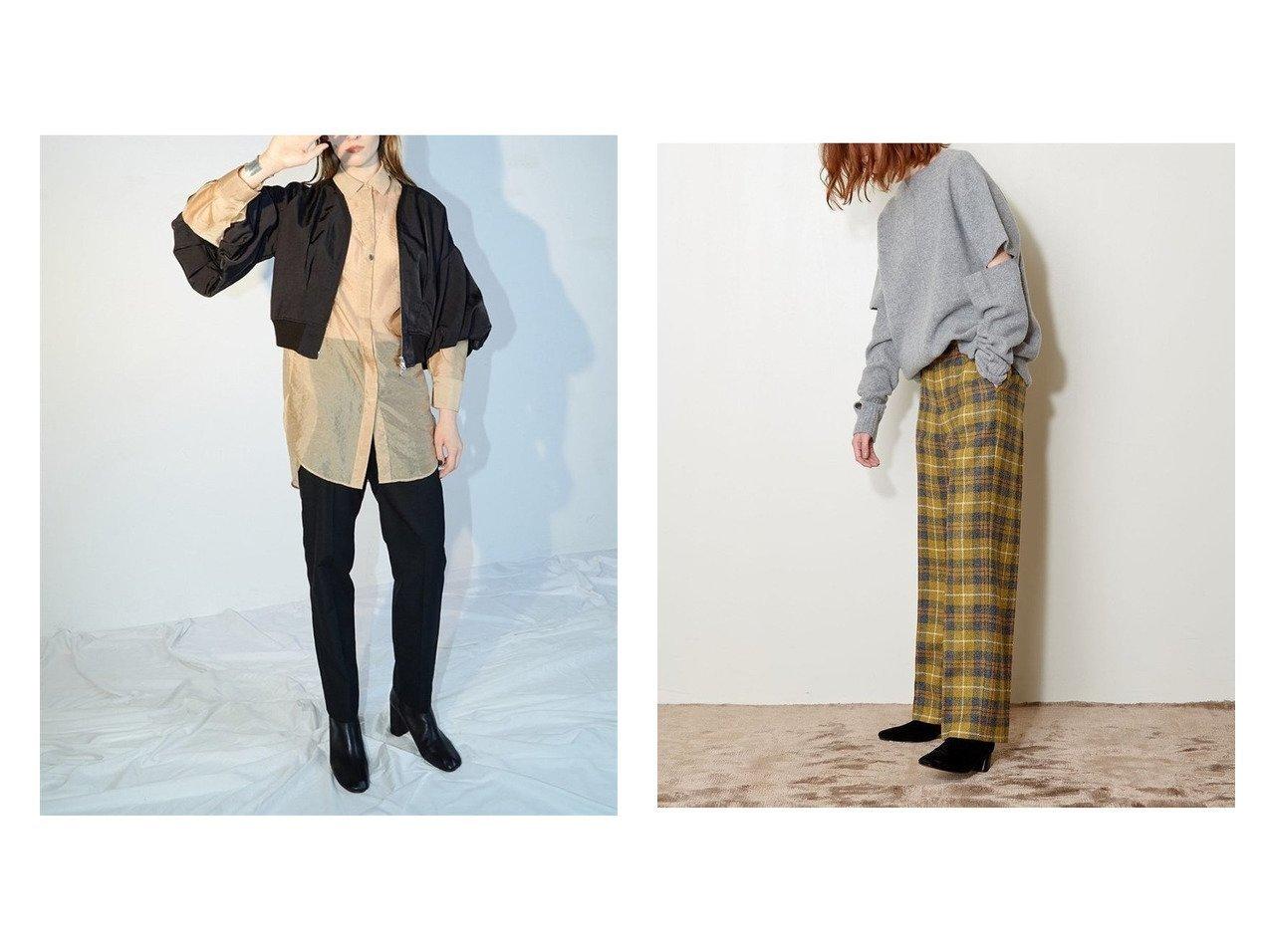【styling/スタイリング】のオーガンザシャツ&【AEWEN MATOPH/イウエン マトフ】のスリット ニット トップス・カットソーのおすすめ!人気、トレンド・レディースファッションの通販  おすすめで人気の流行・トレンド、ファッションの通販商品 メンズファッション・キッズファッション・インテリア・家具・レディースファッション・服の通販 founy(ファニー) https://founy.com/ ファッション Fashion レディースファッション WOMEN トップス Tops Tshirt シャツ/ブラウス Shirts Blouses ニット Knit Tops 10月号 オケージョン シアー スウェット スリット チュニック リラックス 秋 Autumn/Fall 雑誌 長袖 |ID:crp329100000010650