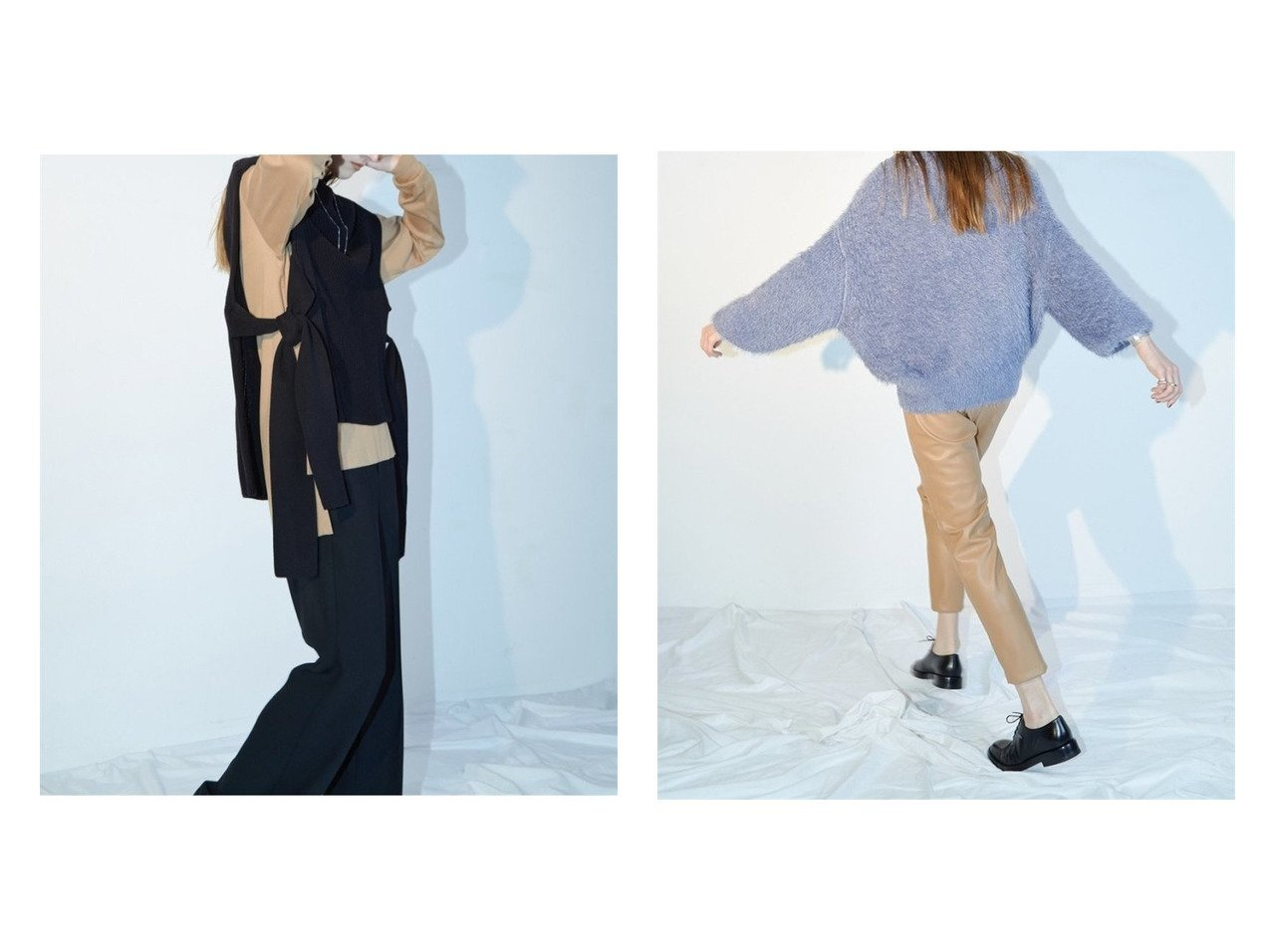 【styling/スタイリング】のイタリーフェザーヤーンプルオーバー&ノースリーブニットプルオーバー トップス・カットソーのおすすめ!人気、トレンド・レディースファッションの通販  おすすめで人気の流行・トレンド、ファッションの通販商品 メンズファッション・キッズファッション・インテリア・家具・レディースファッション・服の通販 founy(ファニー) https://founy.com/ ファッション Fashion レディースファッション WOMEN トップス Tops Tshirt ニット Knit Tops キャミソール / ノースリーブ No Sleeves プルオーバー Pullover インナー ノースリーブ リボン なめらか イタリア フェザー フェミニン フォルム ボトム 畦  ID:crp329100000010674