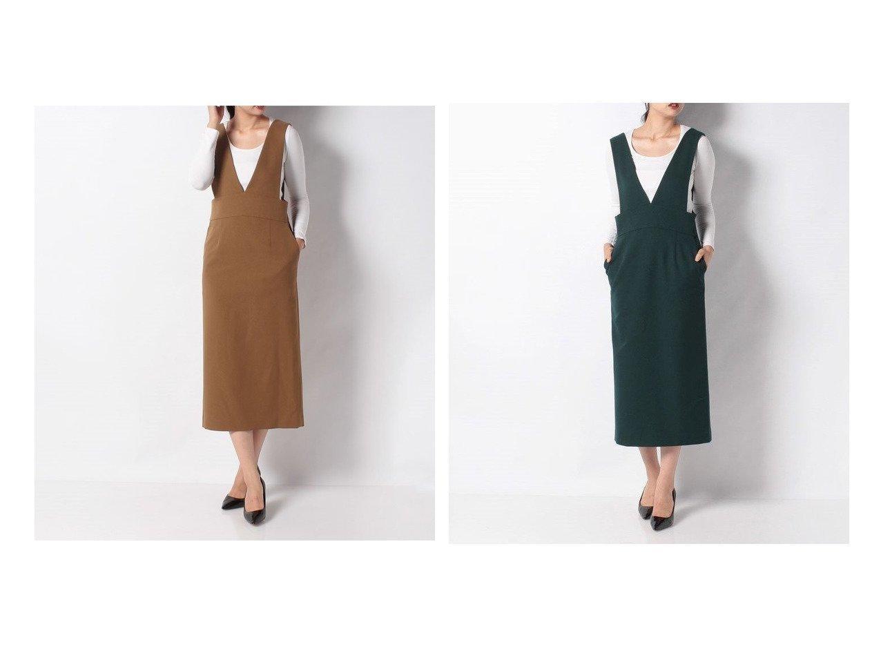 【allureville/アルアバイル】のVネックオーバースカート スカートのおすすめ!人気、トレンド・レディースファッションの通販 おすすめで人気の流行・トレンド、ファッションの通販商品 メンズファッション・キッズファッション・インテリア・家具・レディースファッション・服の通販 founy(ファニー) https://founy.com/ ファッション Fashion レディースファッション WOMEN スカート Skirt ストレート  ID:crp329100000010771