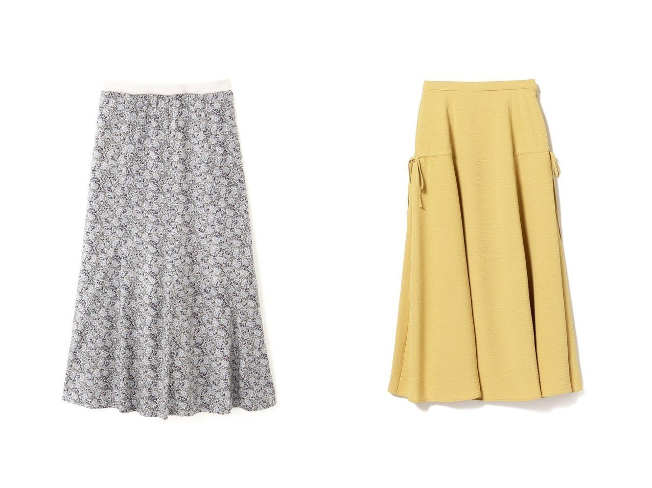 【HUMAN WOMAN/ヒューマンウーマン】のフラワープリントスカート&【Ray BEAMS/レイ ビームス】のサイド ドロスト スカート スカートのおすすめ!人気、トレンド・レディースファッションの通販 おすすめで人気の流行・トレンド、ファッションの通販商品 メンズファッション・キッズファッション・インテリア・家具・レディースファッション・服の通販 founy(ファニー) https://founy.com/ ファッション Fashion レディースファッション WOMEN スカート Skirt ロングスカート Long Skirt カットソー サテン スタンダード フレア プリント ボーダー リラックス 春 Spring NEW・新作・新着・新入荷 New Arrivals ストレッチ スリーブ ベスト リボン ロング  ID:crp329100000010776