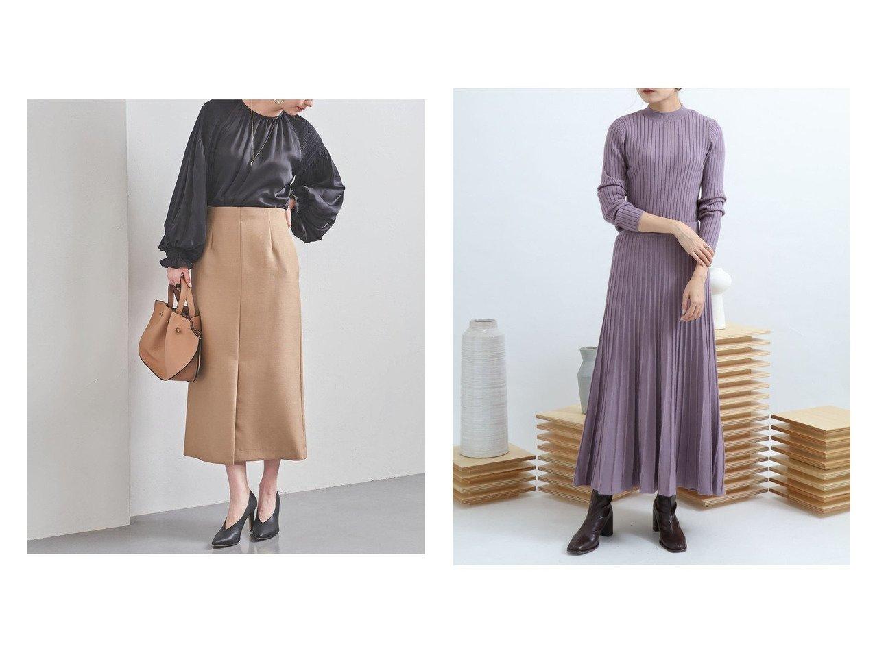 【UNITED ARROWS/ユナイテッドアローズ】のUBC スリット Aラインスカート&【SENSE OF PLACE / URBAN RESEARCH/センス オブ プレイス】の【一部店舗限定】リブセータープリーツスカートアンサンブル スカートのおすすめ!人気、トレンド・レディースファッションの通販  おすすめで人気の流行・トレンド、ファッションの通販商品 メンズファッション・キッズファッション・インテリア・家具・レディースファッション・服の通販 founy(ファニー) https://founy.com/ ファッション Fashion レディースファッション WOMEN スカート Skirt Aライン/フレアスカート Flared A-Line Skirts プリーツスカート Pleated Skirts NEW・新作・新着・新入荷 New Arrivals エレガント シンプル スリット センター フェミニン フロント 切替 カットソー スタンダード セットアップ デニム フレア プリーツ マキシ ワイド  ID:crp329100000010779