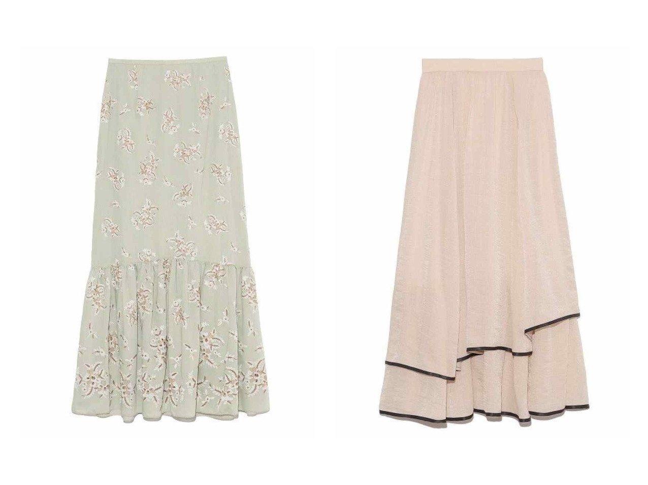 【Lily Brown/リリーブラウン】のフラワー刺繍ロングスカート&裾パイピングシフォンスカート スカートのおすすめ!人気、トレンド・レディースファッションの通販  おすすめで人気の流行・トレンド、ファッションの通販商品 メンズファッション・キッズファッション・インテリア・家具・レディースファッション・服の通販 founy(ファニー) https://founy.com/ ファッション Fashion レディースファッション WOMEN スカート Skirt ロングスカート Long Skirt エレガント セットアップ バランス フラワー フレア マーメイド ロング 再入荷 Restock/Back in Stock/Re Arrival  ID:crp329100000010780