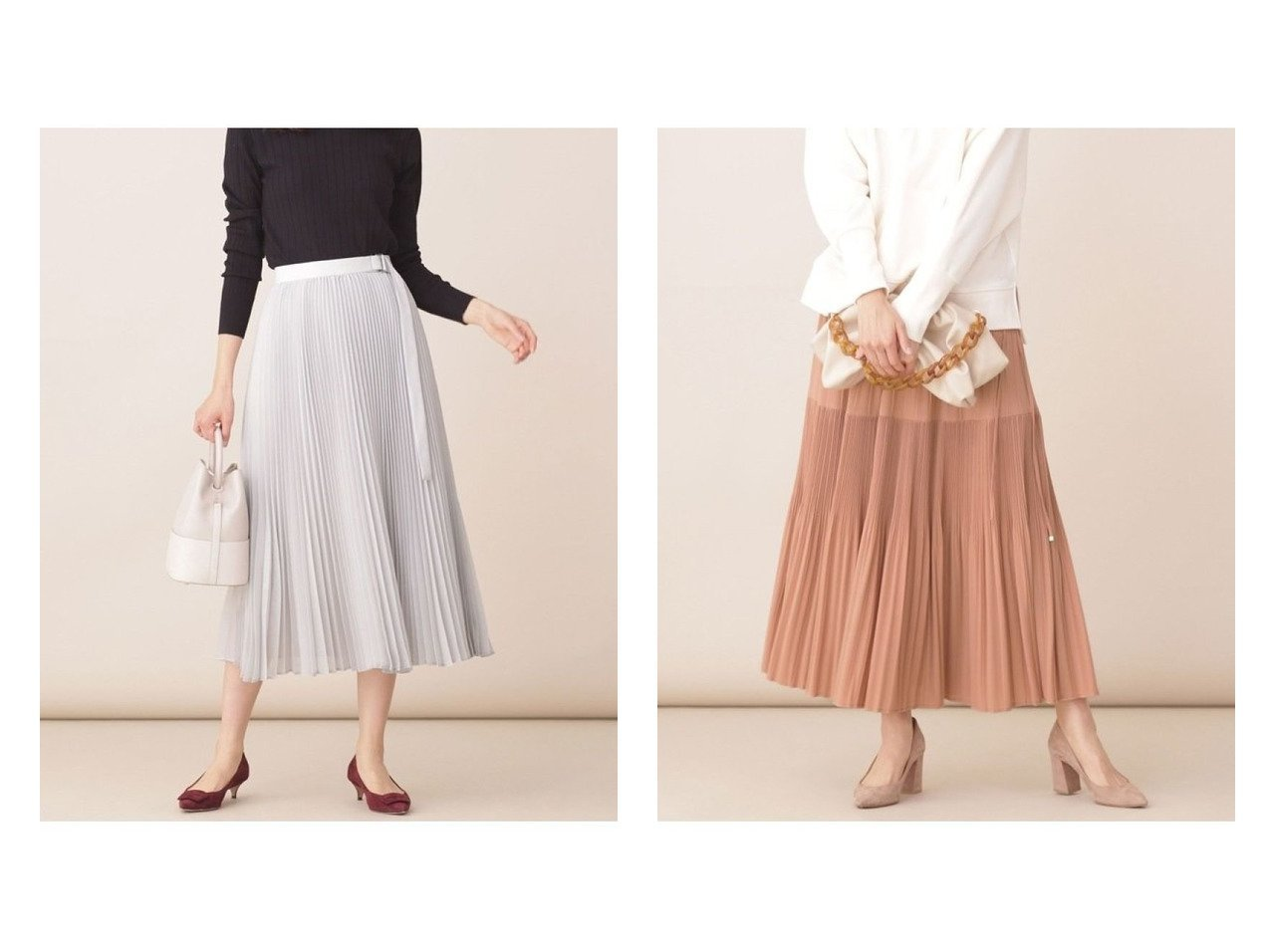 【nano universe/ナノ ユニバース】のパーツ付きシアープリーツスカート&ティアードプリーツスカート スカートのおすすめ!人気、トレンド・レディースファッションの通販  おすすめで人気の流行・トレンド、ファッションの通販商品 メンズファッション・キッズファッション・インテリア・家具・レディースファッション・服の通販 founy(ファニー) https://founy.com/ ファッション Fashion レディースファッション WOMEN スカート Skirt プリーツスカート Pleated Skirts NEW・新作・新着・新入荷 New Arrivals シアー トレンド プリーツ ミモレ メタル 再入荷 Restock/Back in Stock/Re Arrival 春 Spring ジョーゼット ティアードスカート フェミニン リボン ロング  ID:crp329100000010781