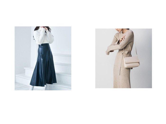 【MiiA/ミーア】のフェイクレザーマチスカート&【Mila Owen/ミラオーウェン】のナローリブニットスカート スカートのおすすめ!人気、トレンド・レディースファッションの通販  おすすめファッション通販アイテム レディースファッション・服の通販 founy(ファニー) ファッション Fashion レディースファッション WOMEN スカート Skirt アクリル オレンジ スマート セットアップ パープル フィット フレア リボン |ID:crp329100000010798