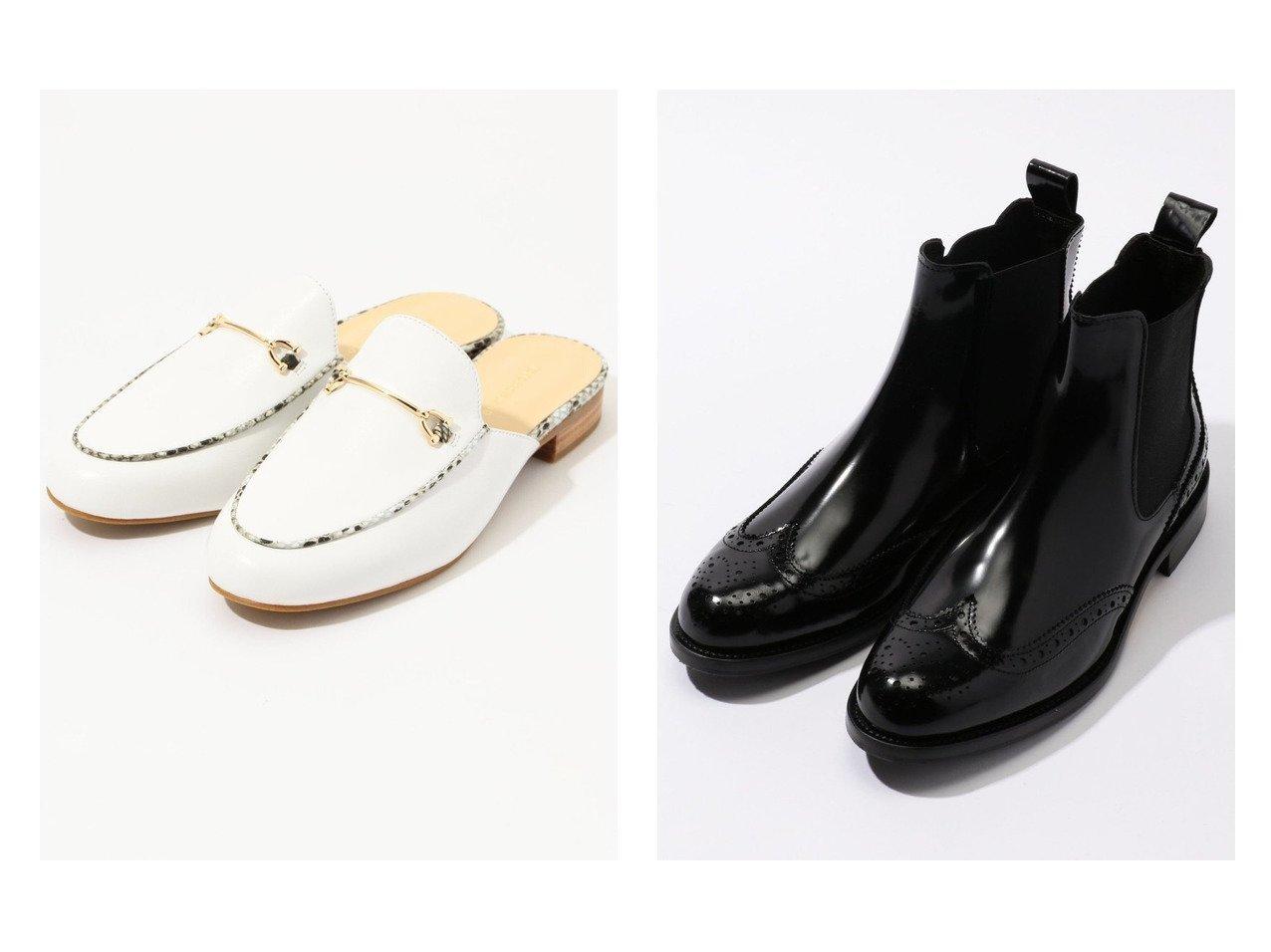【TOMORROWLAND GOODs/トゥモローランド グッズ】のTOMORROWLAND サイドゴアメダリオンブーツ&TOMORROWLAND パイソンコンビローファースリッポン シューズ・靴のおすすめ!人気、トレンド・レディースファッションの通販  おすすめで人気の流行・トレンド、ファッションの通販商品 メンズファッション・キッズファッション・インテリア・家具・レディースファッション・服の通販 founy(ファニー) https://founy.com/ ファッション Fashion レディースファッション WOMEN NEW・新作・新着・新入荷 New Arrivals シューズ シンプル スリッポン トレンド パイソン フラット クラシック グラス スタンダード |ID:crp329100000010819