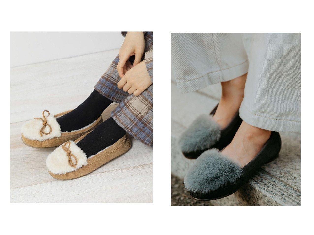 【green label relaxing / UNITED ARROWS/グリーンレーベル リラクシング / ユナイテッドアローズ】の22.0cm~25.0cm CFC フェイクファー ウォーム フラットシューズ (1cmヒール)&【Sonny Label / URBAN RESEARCH/サニーレーベル】のMINNETONKA KYLAH SLIPPER シューズ・靴のおすすめ!人気、トレンド・レディースファッションの通販  おすすめで人気の流行・トレンド、ファッションの通販商品 メンズファッション・キッズファッション・インテリア・家具・レディースファッション・服の通販 founy(ファニー) https://founy.com/ ファッション Fashion レディースファッション WOMEN シューズ スエード スニーカー スリッポン フェイクファー ベーシック ウォーム サテン デニム フラット ロング 今季 冬 Winter 防寒 |ID:crp329100000010827
