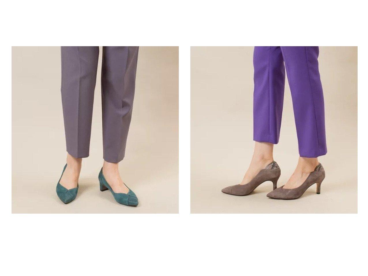 【Piche Abahouse/ピシェ アバハウス】のカーヴィライン ポインテッドパンプス&カラーブロック パンプス シューズ・靴のおすすめ!人気、トレンド・レディースファッションの通販  おすすめで人気の流行・トレンド、ファッションの通販商品 メンズファッション・キッズファッション・インテリア・家具・レディースファッション・服の通販 founy(ファニー) https://founy.com/ ファッション Fashion レディースファッション WOMEN クッション シューズ バタフライ フィット ブロック ワンポイント |ID:crp329100000010837