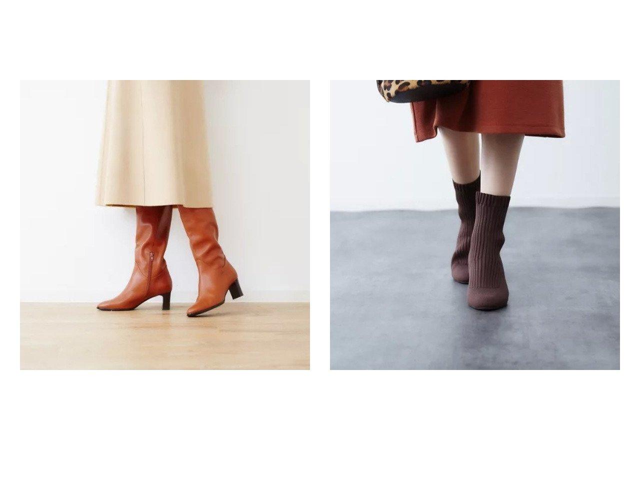 【Piche Abahouse/ピシェ アバハウス】のリブ編みソックスブーツ&セミルーズロングブーツ シューズ・靴のおすすめ!人気、トレンド・レディースファッションの通販  おすすめで人気の流行・トレンド、ファッションの通販商品 メンズファッション・キッズファッション・インテリア・家具・レディースファッション・服の通販 founy(ファニー) https://founy.com/ ファッション Fashion レディースファッション WOMEN ソックス Socks シューズ チェック ミドル ロング 楽ちん |ID:crp329100000010840