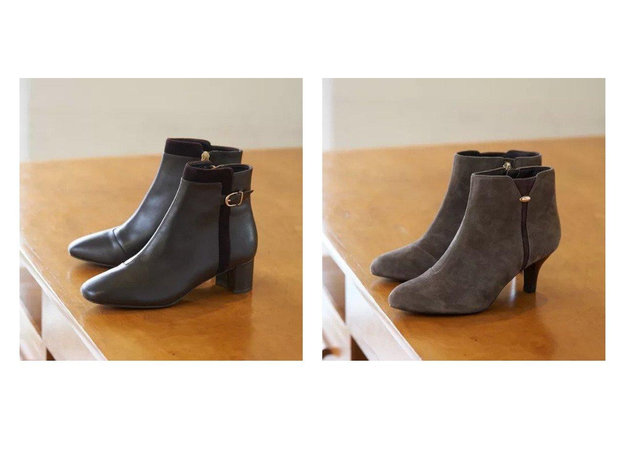 【Piche Abahouse/ピシェ アバハウス】のfluffy fit 4.5cmスクエアショートブーツ&fluffy fit 金具付きラインショートブーツ シューズ・靴のおすすめ!人気、トレンド・レディースファッションの通販  おすすめで人気の流行・トレンド、ファッションの通販商品 メンズファッション・キッズファッション・インテリア・家具・レディースファッション・服の通販 founy(ファニー) https://founy.com/ ファッション Fashion レディースファッション WOMEN インソール クッション シューズ ショート スマート 人気 ベーシック ミドル A/W 秋冬 AW Autumn/Winter / FW Fall-Winter |ID:crp329100000010843