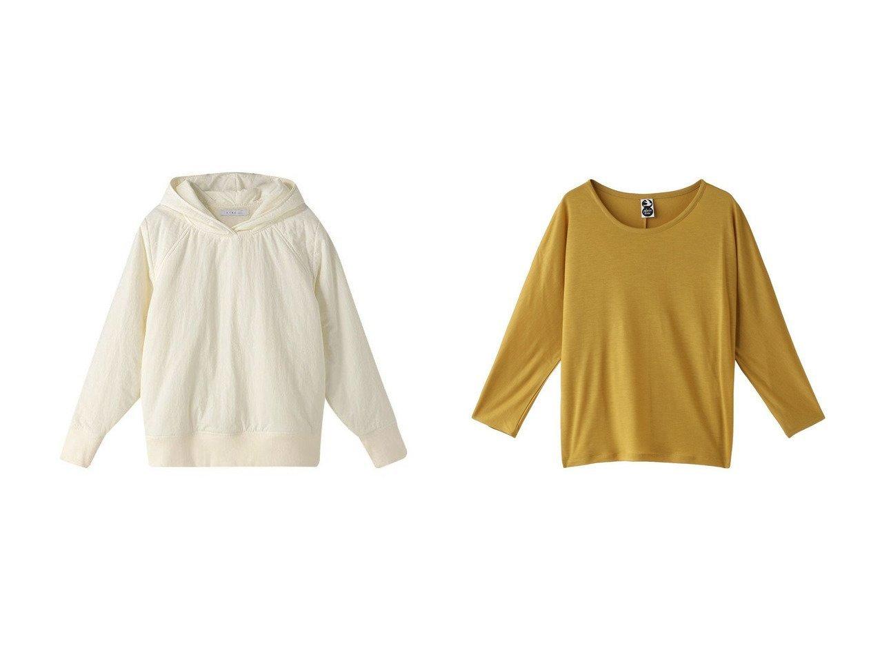 【PLAIN PEOPLE/プレインピープル】の【plainless】テンセルキュプラカットソー&【ETRE TOKYO/エトレトウキョウ】のパディングフーディー トップス・カットソーのおすすめ!人気、トレンド・レディースファッションの通販 おすすめで人気の流行・トレンド、ファッションの通販商品 メンズファッション・キッズファッション・インテリア・家具・レディースファッション・服の通販 founy(ファニー) https://founy.com/ ファッション Fashion レディースファッション WOMEN トップス Tops Tshirt シャツ/ブラウス Shirts Blouses パーカ Sweats ロング / Tシャツ T-Shirts スウェット Sweat カットソー Cut and Sewn キルティング タフタ 今季 防寒 インナー カットソー シンプル スリーブ ロング |ID:crp329100000011026