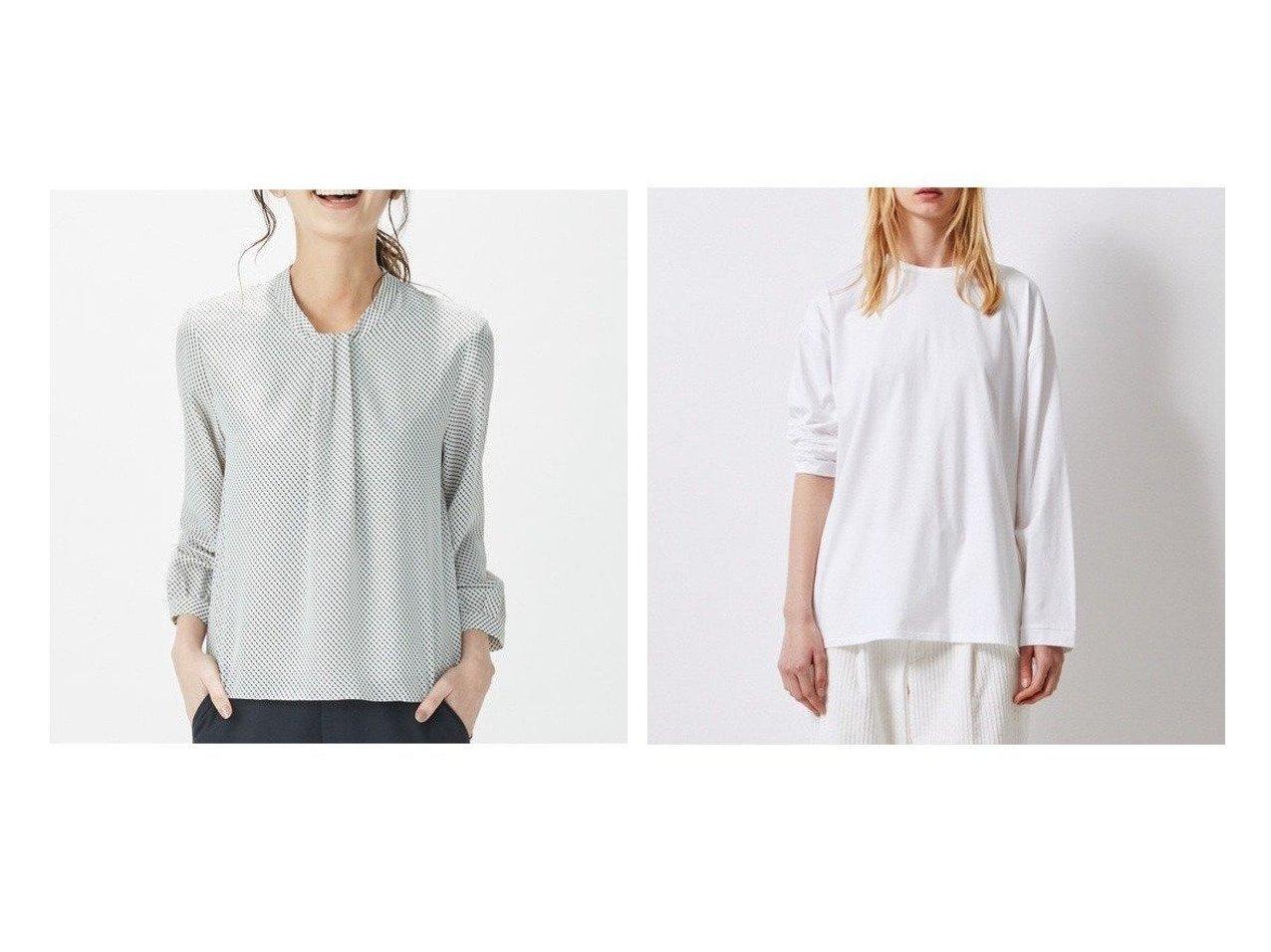 【ATON/エイトン】のオーバーサイズ ロングスリーブ Tシャツ(UNISEX)&【J.PRESS/ジェイ プレス】の【洗える】バイヤス幾何プリント カットソー トップス・カットソーのおすすめ!人気、トレンド・レディースファッションの通販 おすすめで人気の流行・トレンド、ファッションの通販商品 メンズファッション・キッズファッション・インテリア・家具・レディースファッション・服の通販 founy(ファニー) https://founy.com/ ファッション Fashion レディースファッション WOMEN トップス Tops Tshirt カットソー Cut and Sewn シャツ/ブラウス Shirts Blouses ロング / Tシャツ T-Shirts 送料無料 Free Shipping アンティーク カットソー ジャージ ドレープ プリント 洗える UNISEX スリーブ ロング 長袖 |ID:crp329100000011134