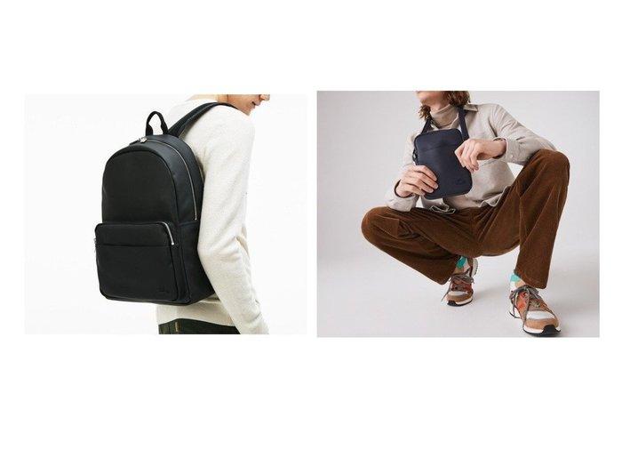 【LACOSTE/ラコステ】のMEN'S CLASSIC エンボスPVCデイパック&MEN'S CLASSIC 鹿の子地エンボスPVCカメラポーチ 【MEN】男性のおすすめ!人気トレンド・メンズファッションの通販 おすすめファッション通販アイテム レディースファッション・服の通販 founy(ファニー) ファッション Fashion レディースファッション WOMEN ポーチ Pouches 送料無料 Free Shipping スリーブ デイパック ポケット ポロシャツ 鹿の子 |ID:crp329100000011222