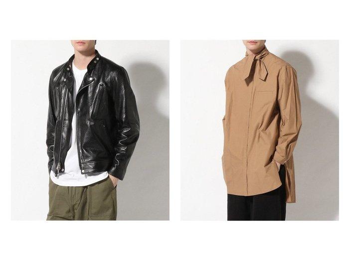 【EDIFICE / MEN/エディフィス】のBand Tunic&【Schott / MEN/ショット】のSCHOTT ラムレザーnew ダブルライダース 【MEN】男性のおすすめ!人気トレンド・メンズファッションの通販 おすすめファッション通販アイテム レディースファッション・服の通販 founy(ファニー) ファッション Fashion メンズファッション MEN オイル ジャケット 定番 Standard ニューヨーク フロント ライダース ライダースジャケット NEW・新作・新着・新入荷 New Arrivals |ID:crp329100000011229