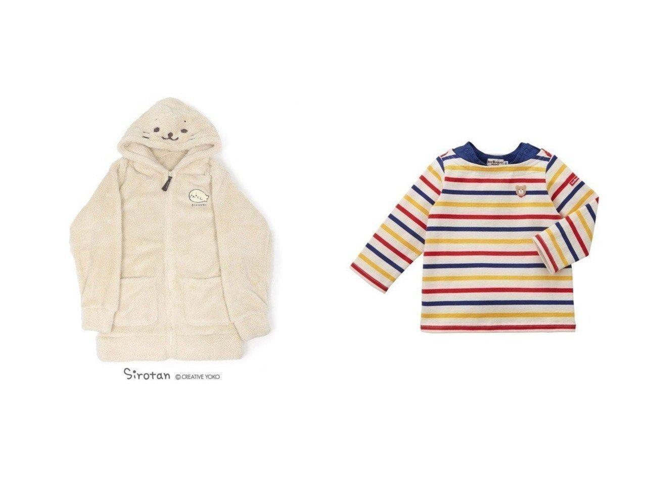 【Mother garden / KIDS/マザーガーデン】のしろたん しろもこ パーカー《アイボリー》 ユニセックス&【MIKI HOUSE HOT BISCUITS / KIDS/ミキハウスホットビスケッツ】の【HOTBISCUITS】重ね着風ボーダーTシャツ 【KIDS】子供服のおすすめ!人気トレンド・キッズファッションの通販  おすすめで人気の流行・トレンド、ファッションの通販商品 メンズファッション・キッズファッション・インテリア・家具・レディースファッション・服の通販 founy(ファニー) https://founy.com/ ファッション Fashion キッズファッション KIDS トップス Tops Tees Kids パーカー 送料無料 Free Shipping ボーダー 定番 Standard 長袖 |ID:crp329100000011276